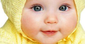 bébé cute en jaune