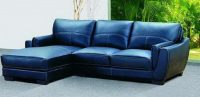 2018 Navy blue leather sofas for a bold and stunning ...