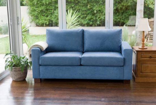 Trendy Sofas 2018 Trendy Blue Leather Sofas For Bright Homes - Leather