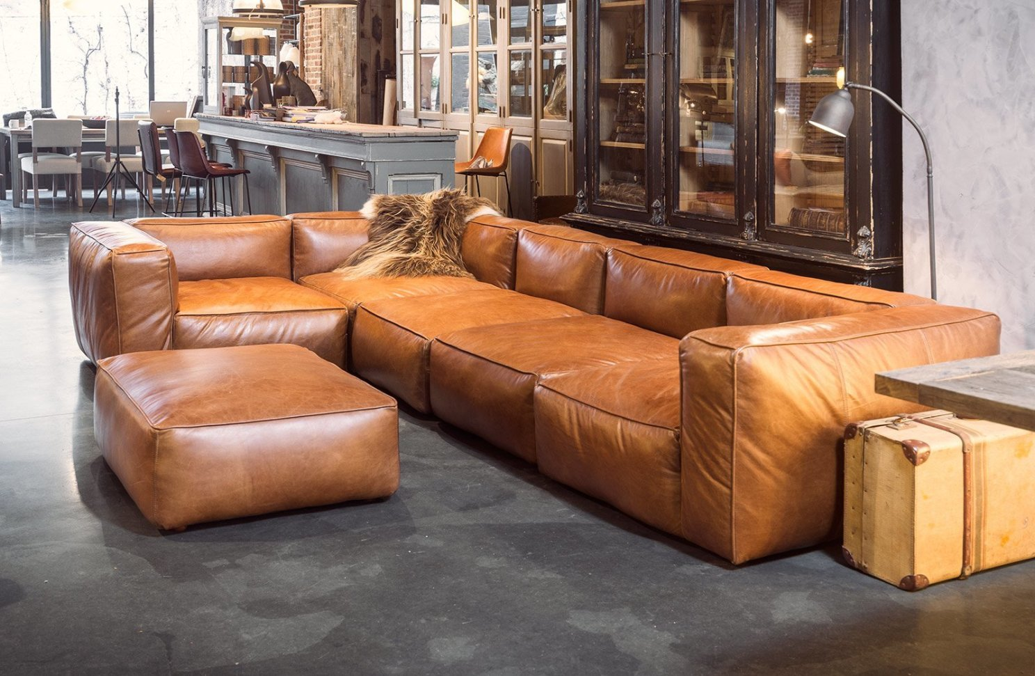 Ecksofa Eleonora Sofa Cognac Cognac Leather Sofa Model 2213 By B Rge