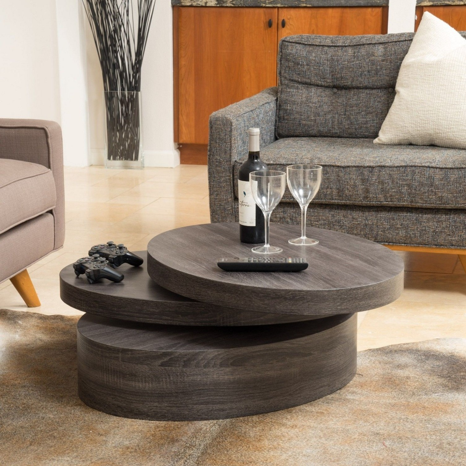 Stylish Sofa Round Coffee Tables For Smooth Comfortable And Stylish