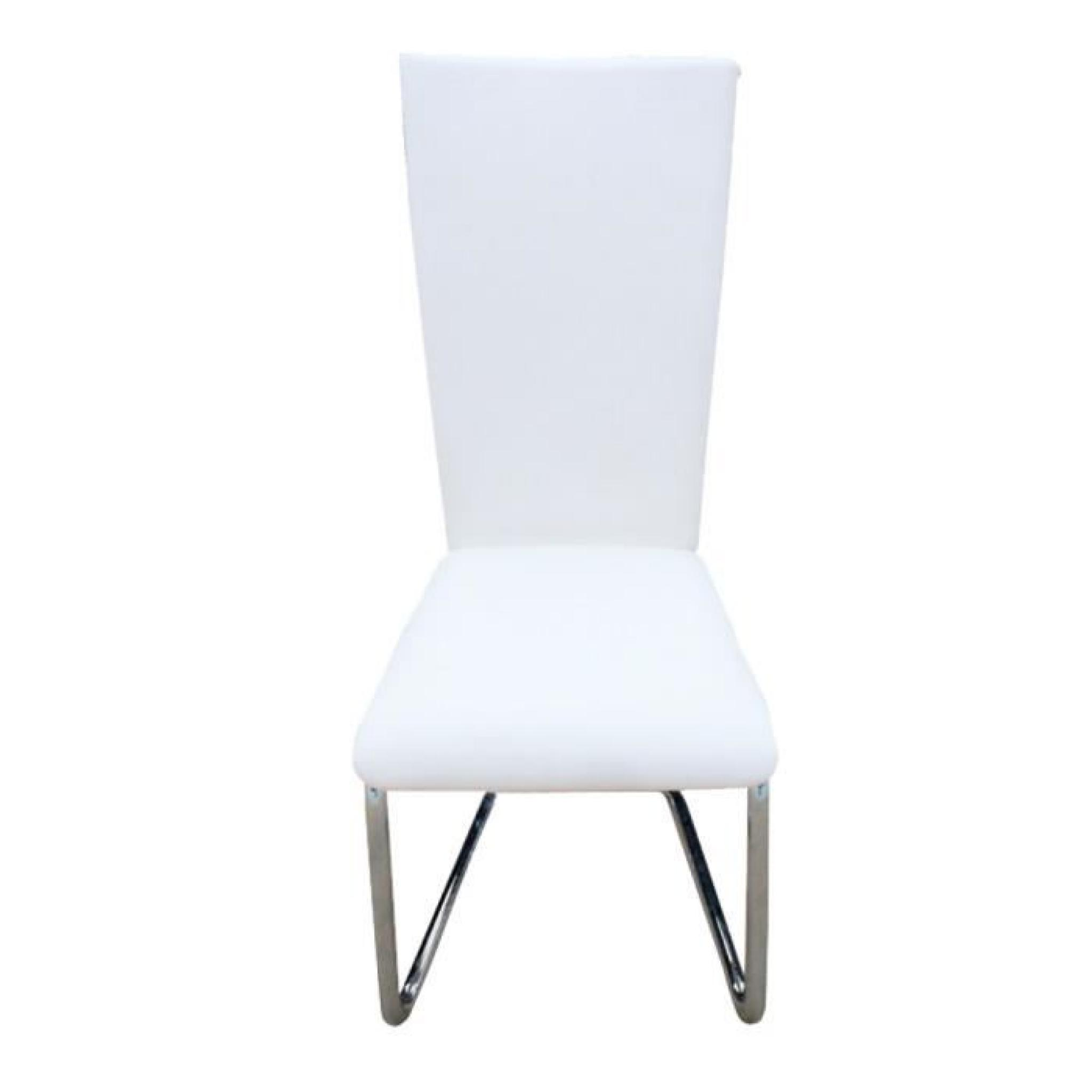 Chaises Blanches Design 2 Chaises Ultra Design Blanches Achat Vente Chaise Salle