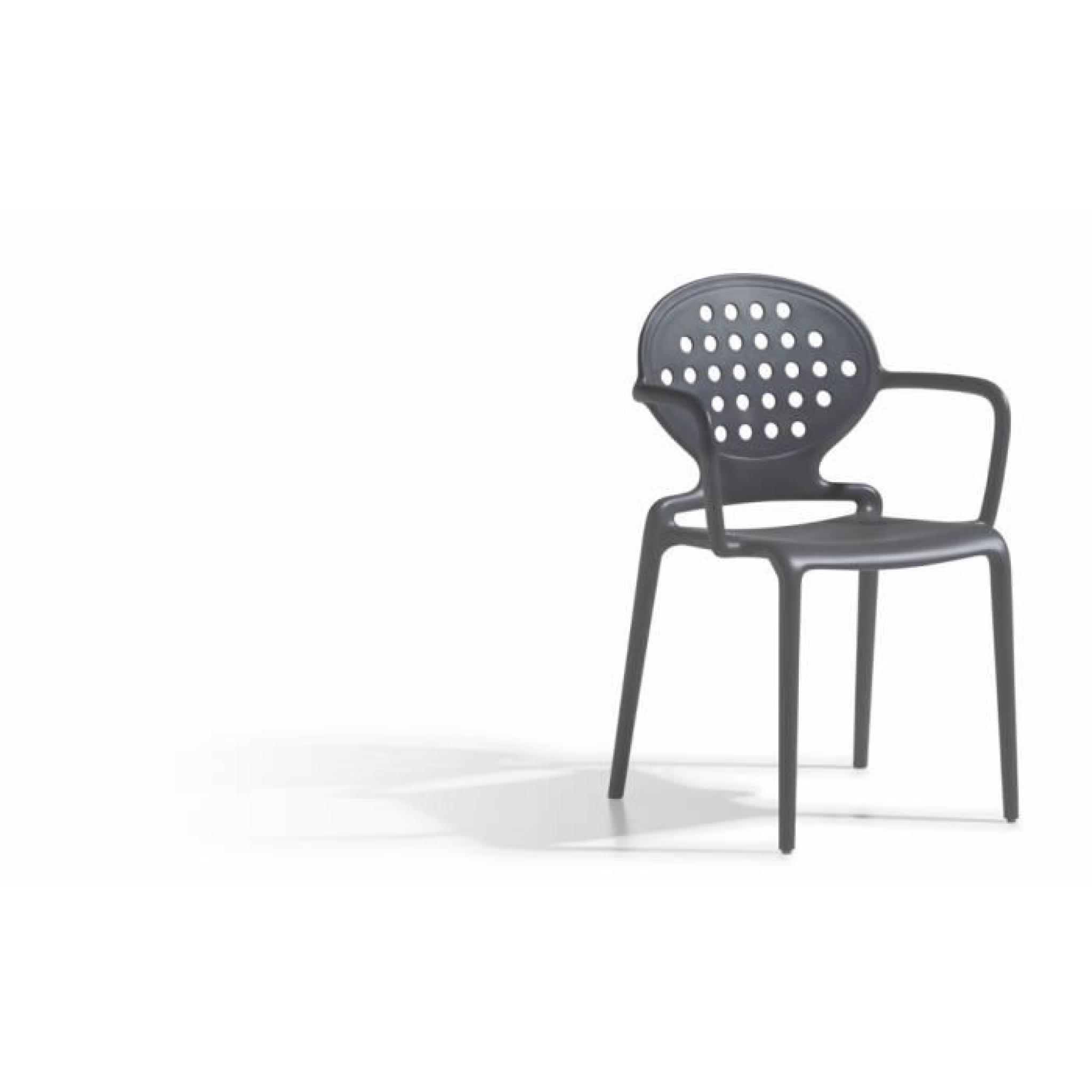 4 Chaises Design Avec Accoudoirs Colette Armrests Lot De Exterieur Et Interieur