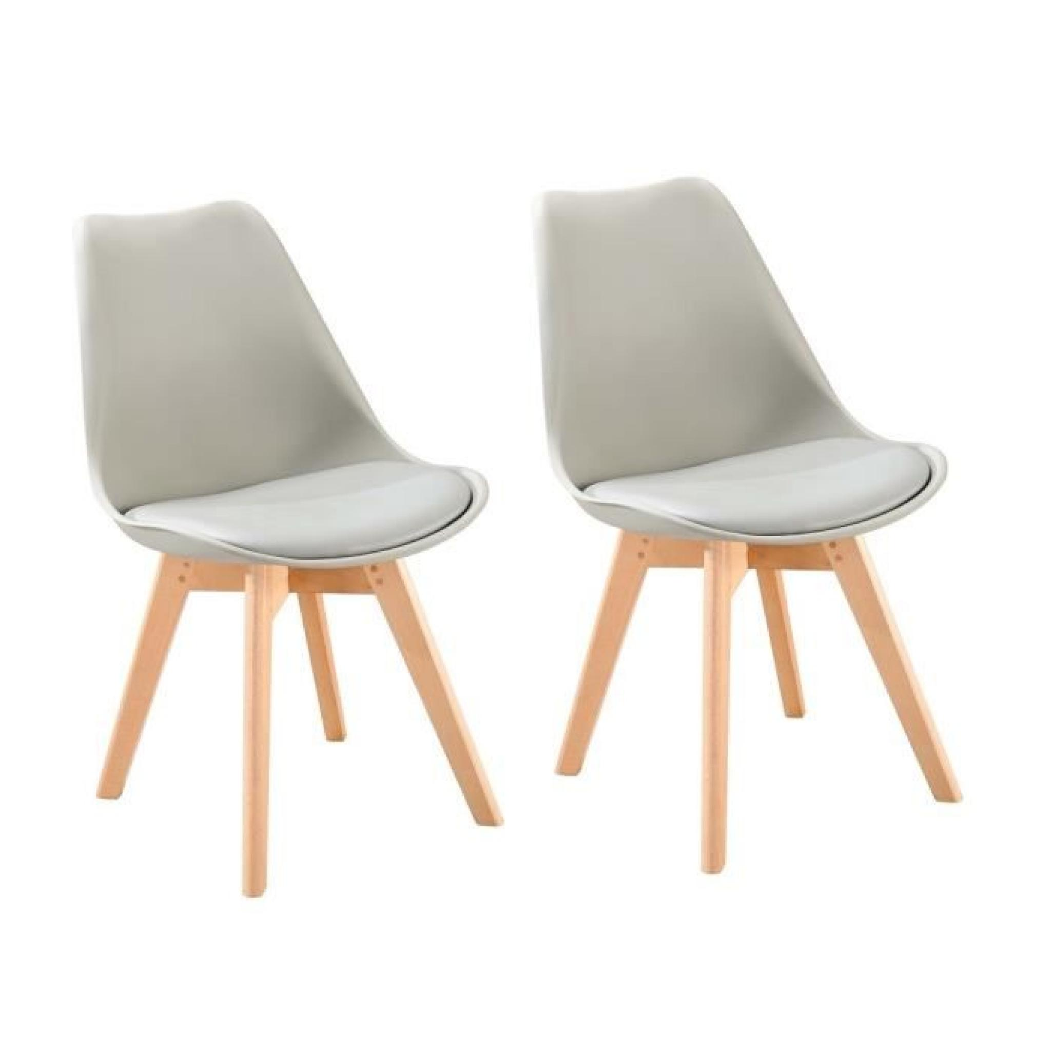 Lot De Chaises Scandinaves Bjorn Lot De 2 Chaises Scandinaves De Salle à Manger