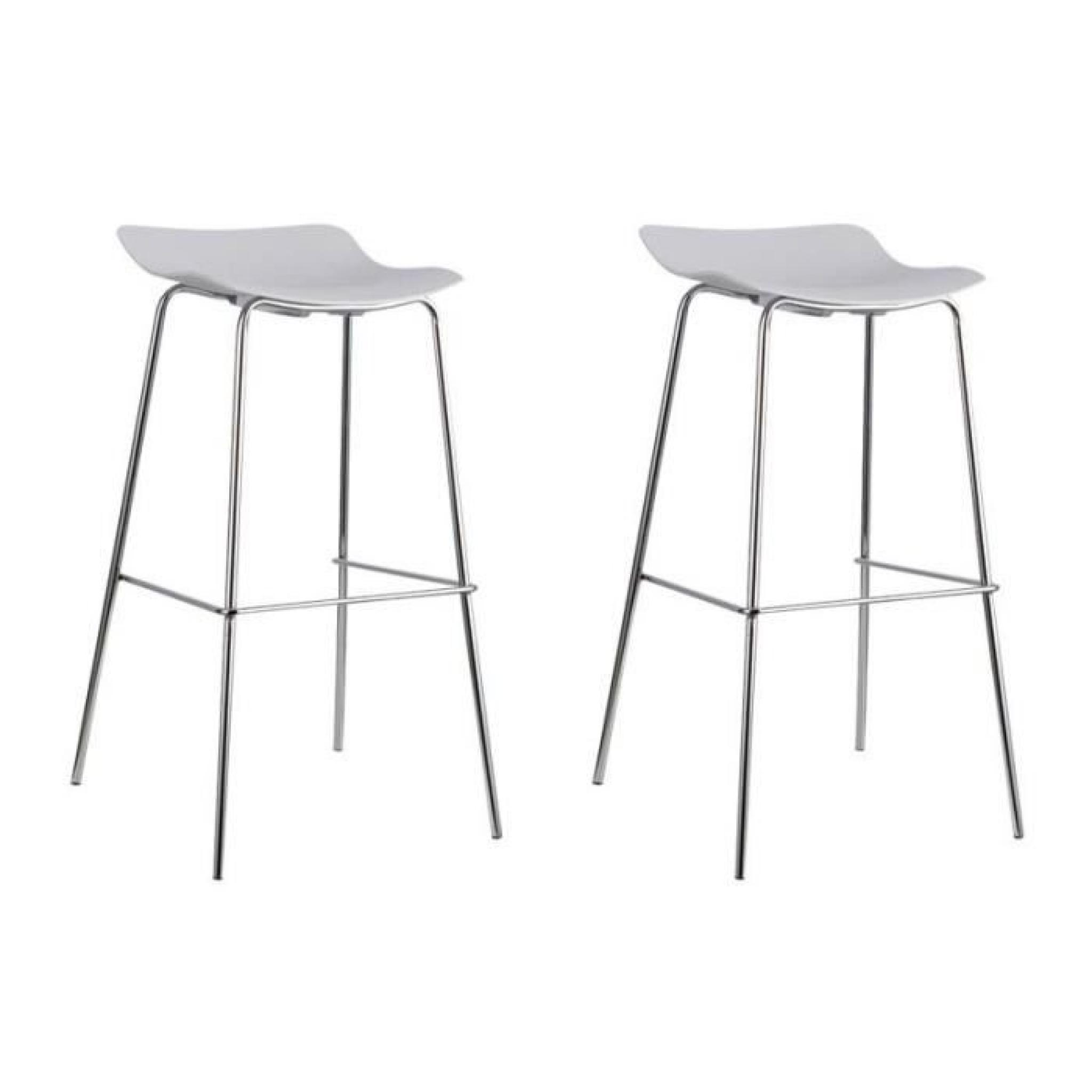 Lot De 2 Tabourets De Bar Blanc Bonnie Lot De 2 Tabourets De Bar Design Blanc