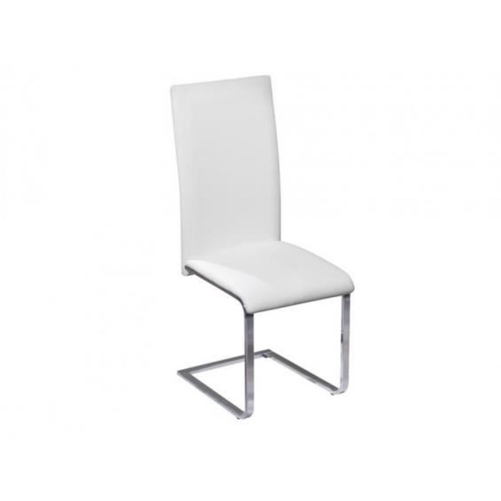 Chaise Blanche Pas Cher Brooklyn Lot 4 Chaises Blanches