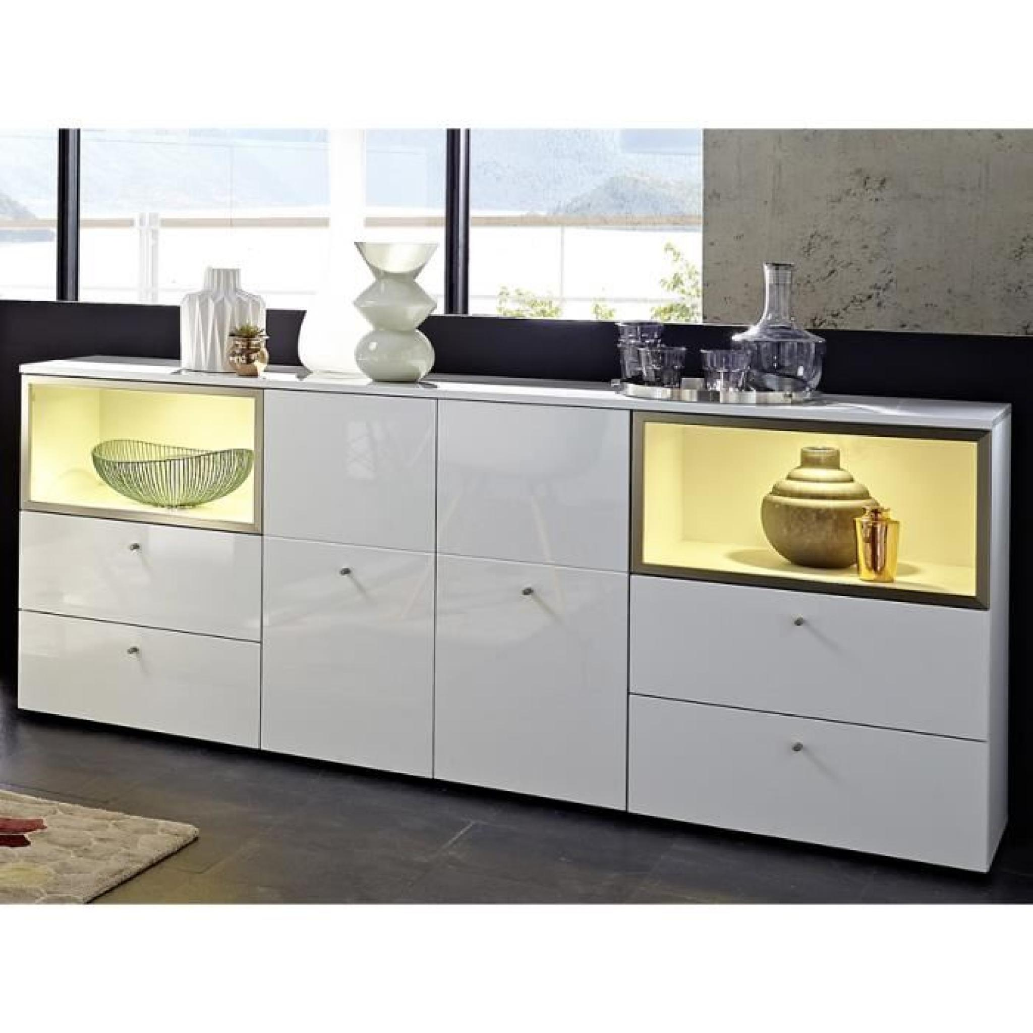 Buffet Bahut Design Free Buffet Bahut Blanc Laqu Design Boston Avec Led With
