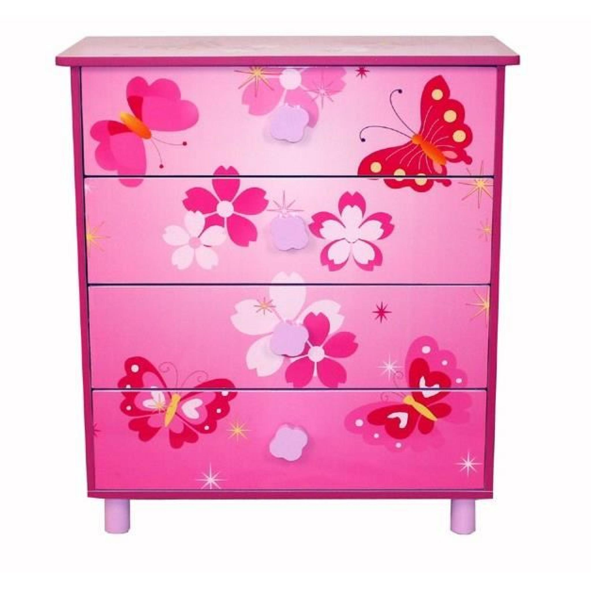 Bureau Enfant Papillon Commode 3 Tiroirs Papillon Vente De Commode Enfant Conforama