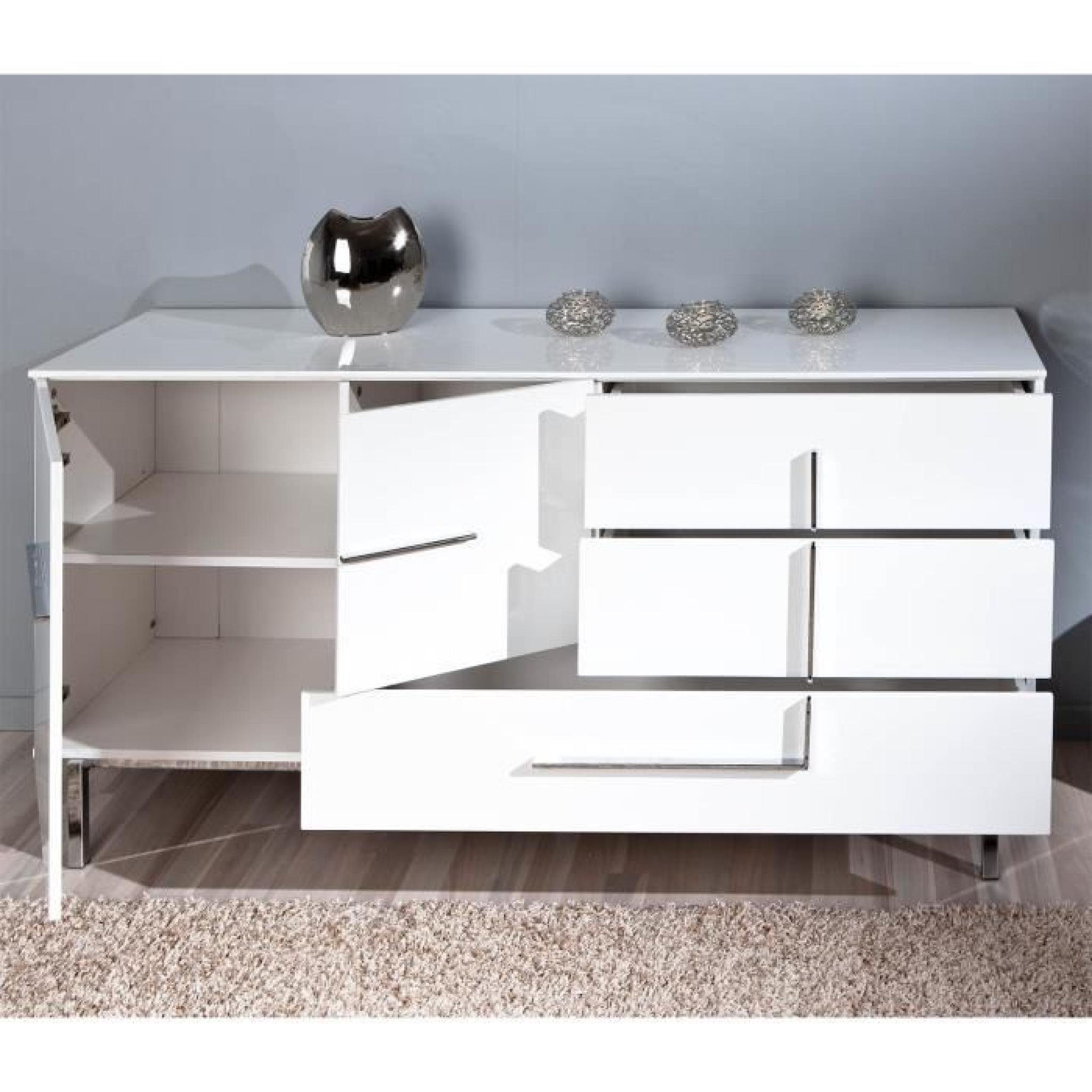 Buffet Bahut Design Commode Buffet Bahut Bas Moderne Design 2 Porte Achat