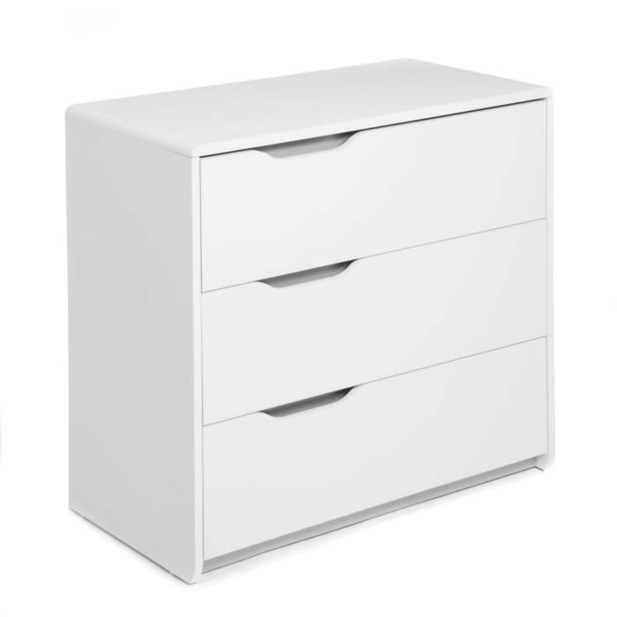 Commode Tiroir Pas Cher Cool Commode Blanche 3 Tiroirs Achat Vente Commode Pas