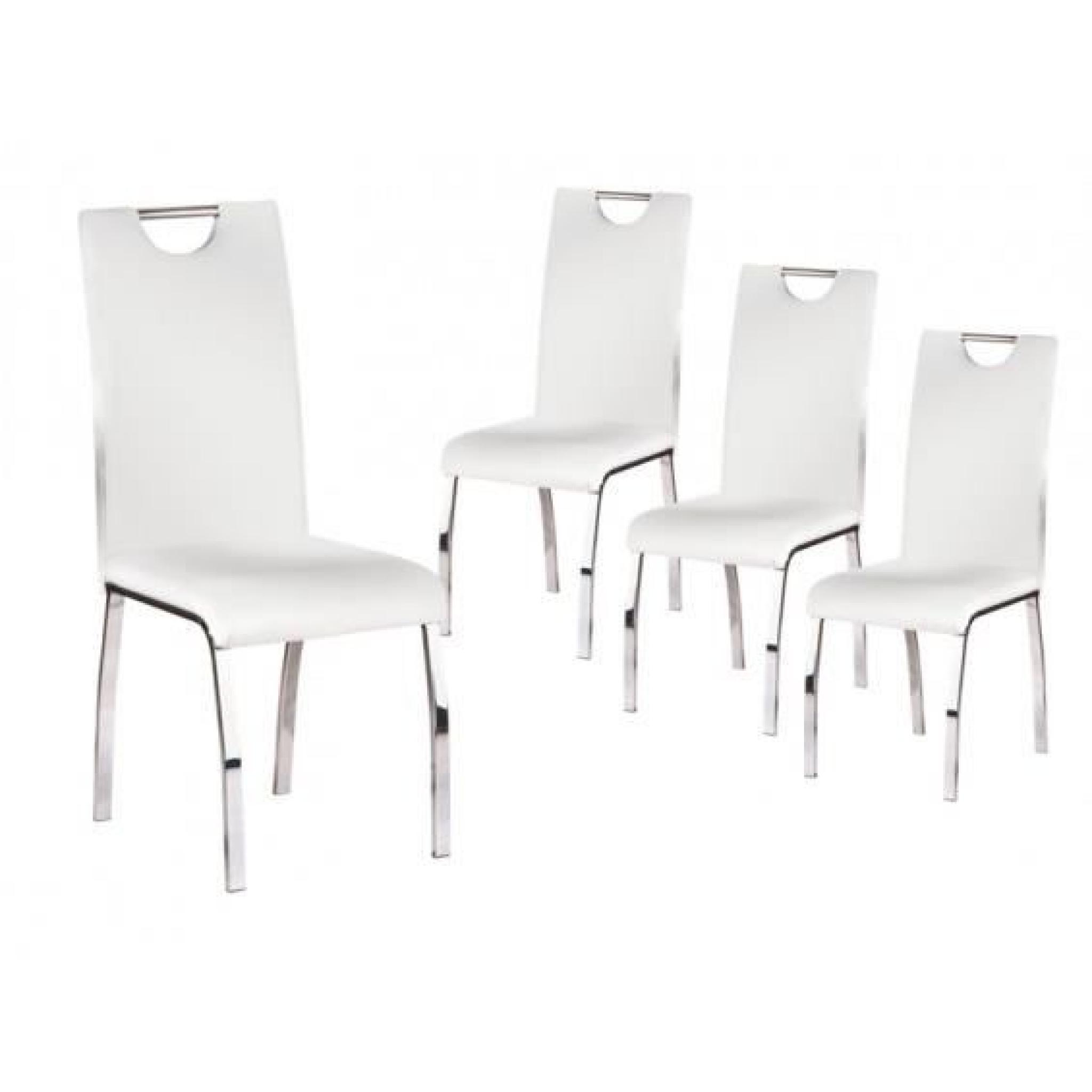 Chaise Blanche Pas Cher Cooper Lot 4 Chaises Blanches
