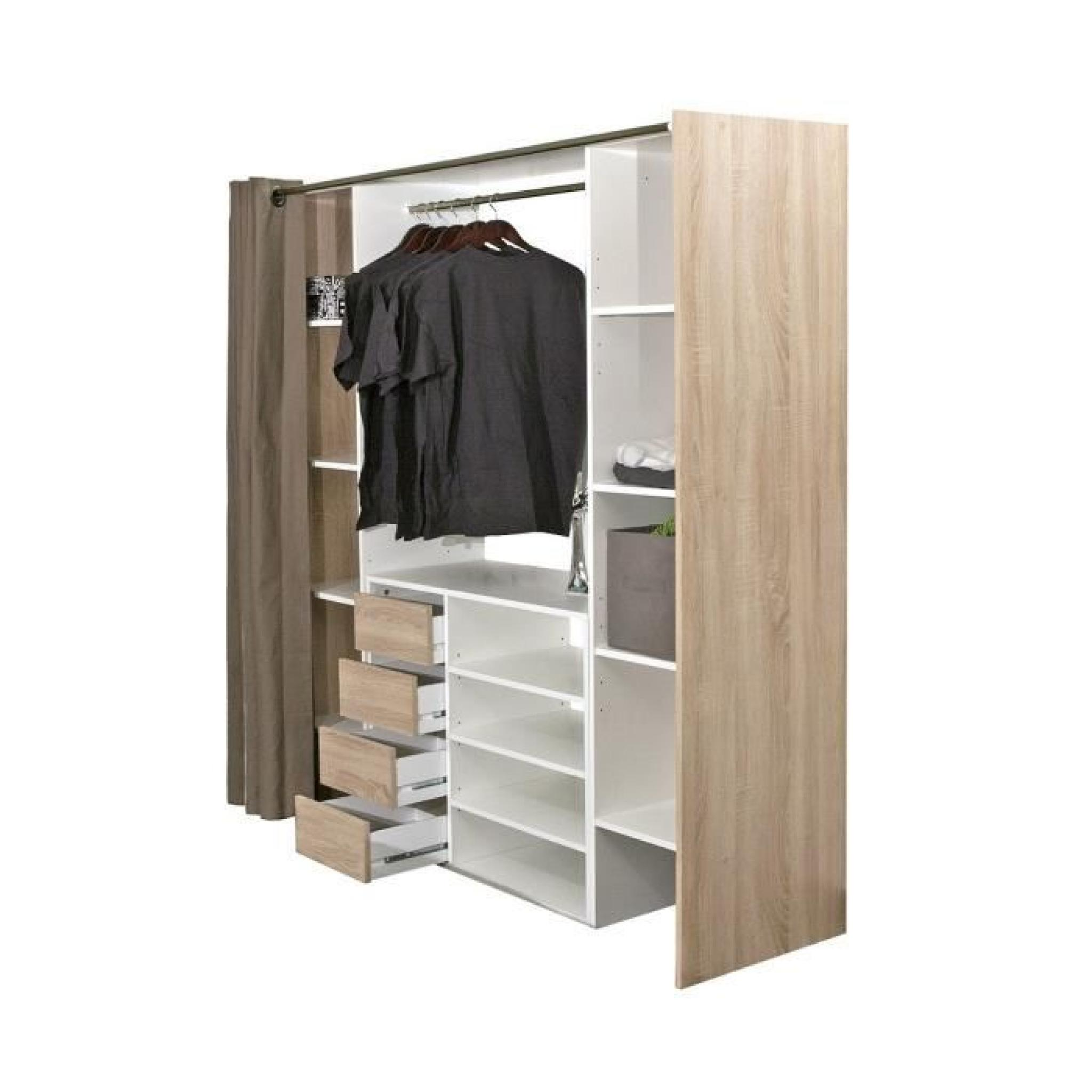 Dressing Rideau Conforama Awesome Good Dressing Extensible Avec Rideau With Penderie