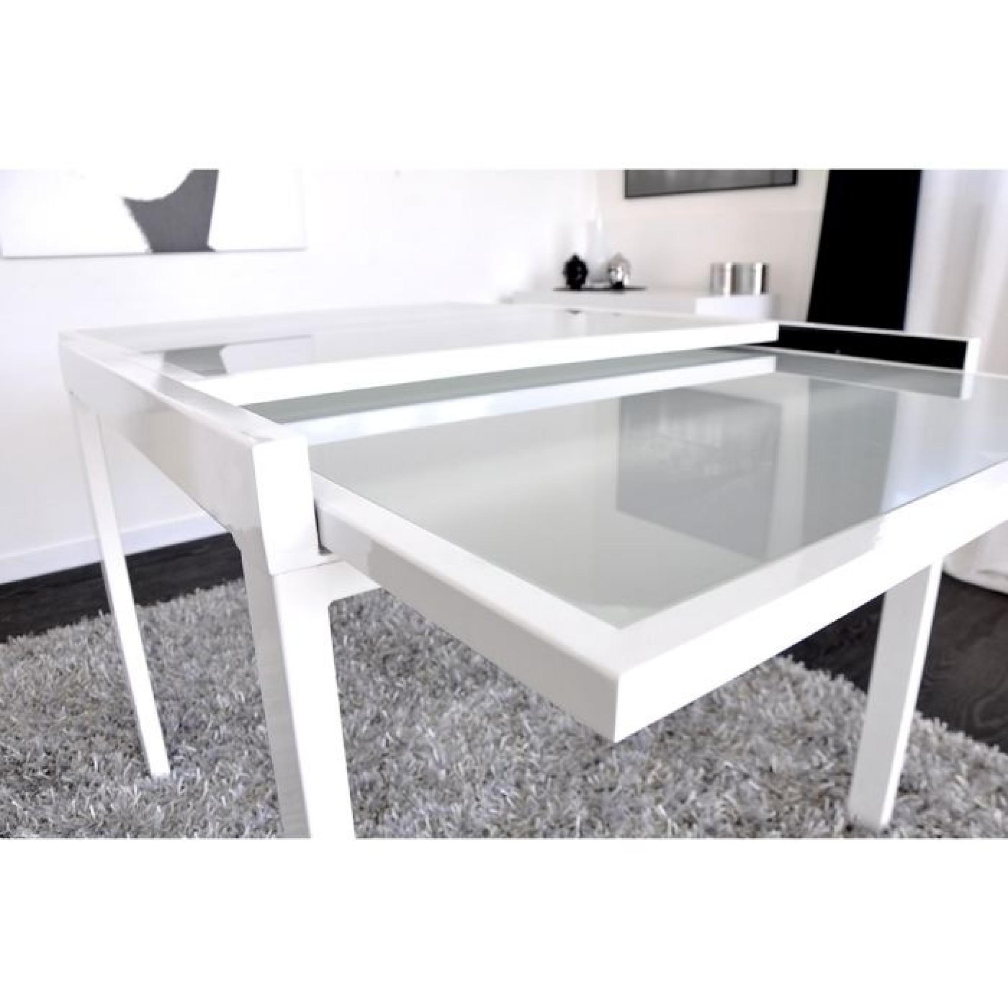 Table à Manger Blanche Extend Table Extensible Blanche 90 180cm