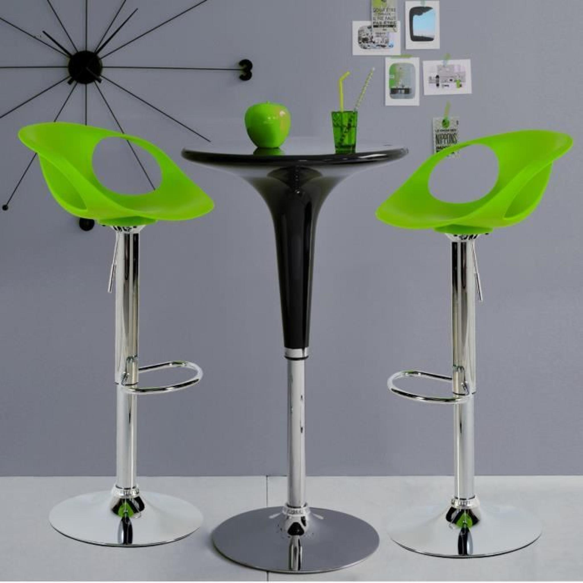 Tabourets Bar Verts Flash Lot De 2 Tabourets De Bar Vert