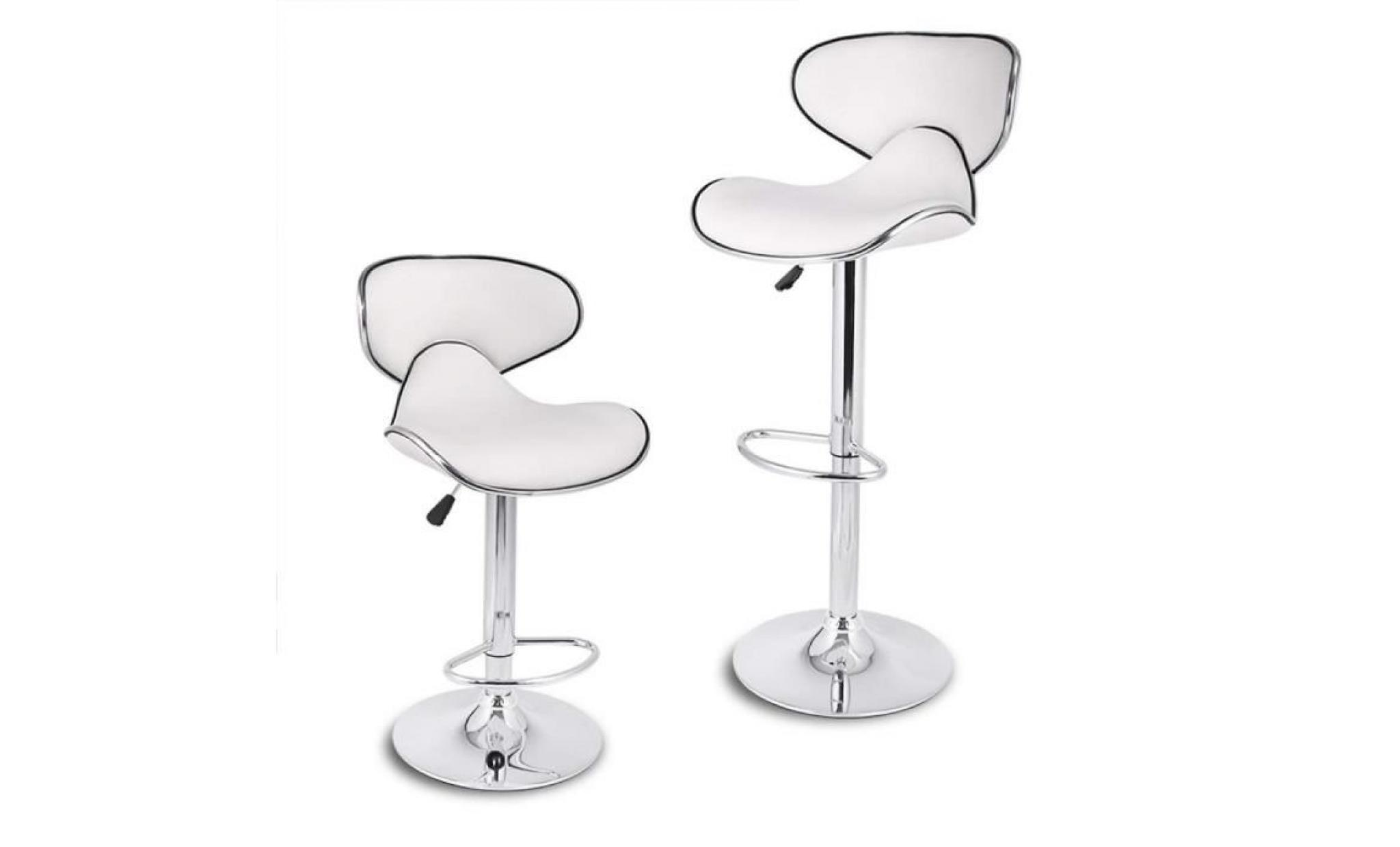 Tabourets De Bar Simili Cuir Noir Kangfun Tabourets De Bar Lot De 2 Chaise De Bar Similicuir Noir 46 49 85 105 Cm