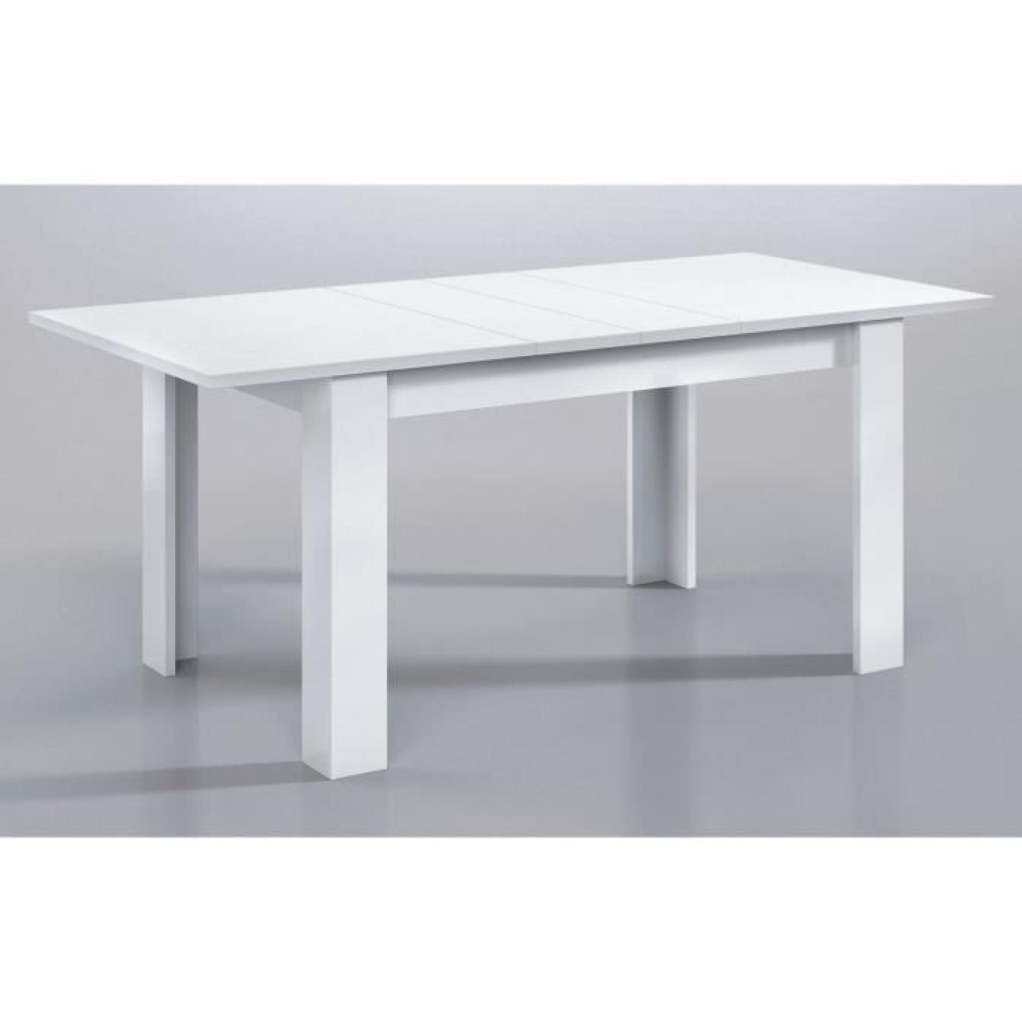 Table à Manger 140 X 90 Kendra Table Extensible 140 190cm Blanc Brillant
