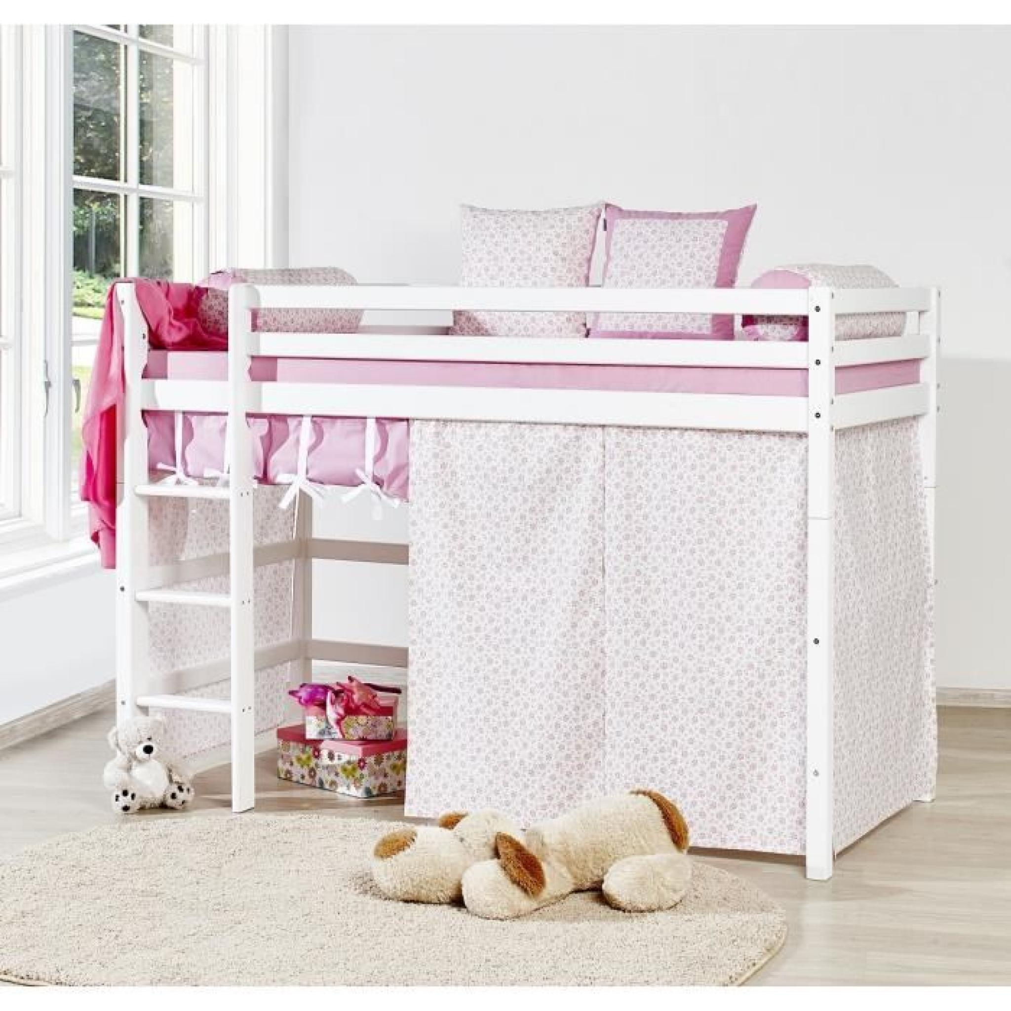 Habillage Lit Superposé Loop Princesse Lit Superposé Enfant 90x200cm Blanc