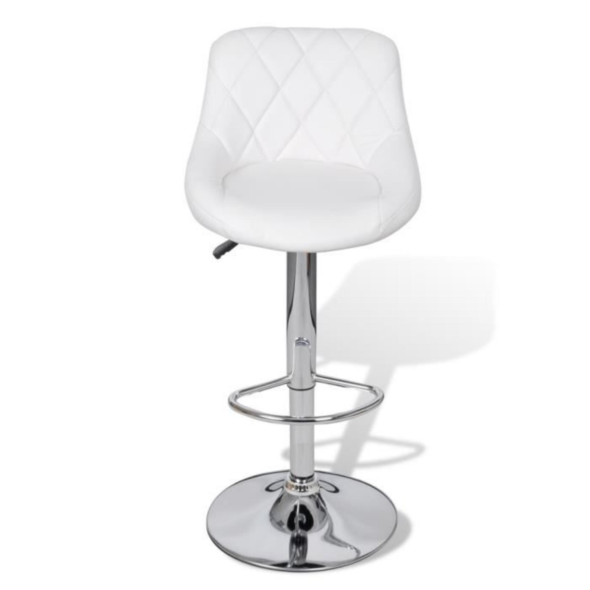 Tabouret Bar Moderne Lot De 2 Tabourets De Bar Blancs Design Moderne Achat