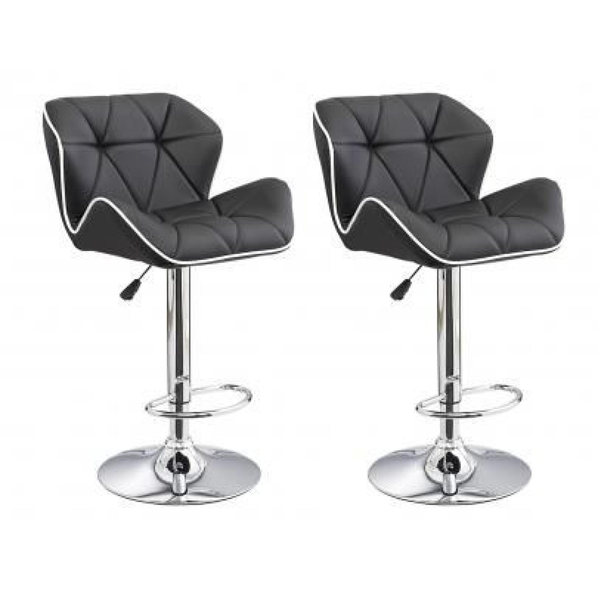 Lot De 2 Tabourets De Bar Christi Ii Simili Bi Achat Vente Tabouret De Bar Pas Cher Couleur Et Design Fr