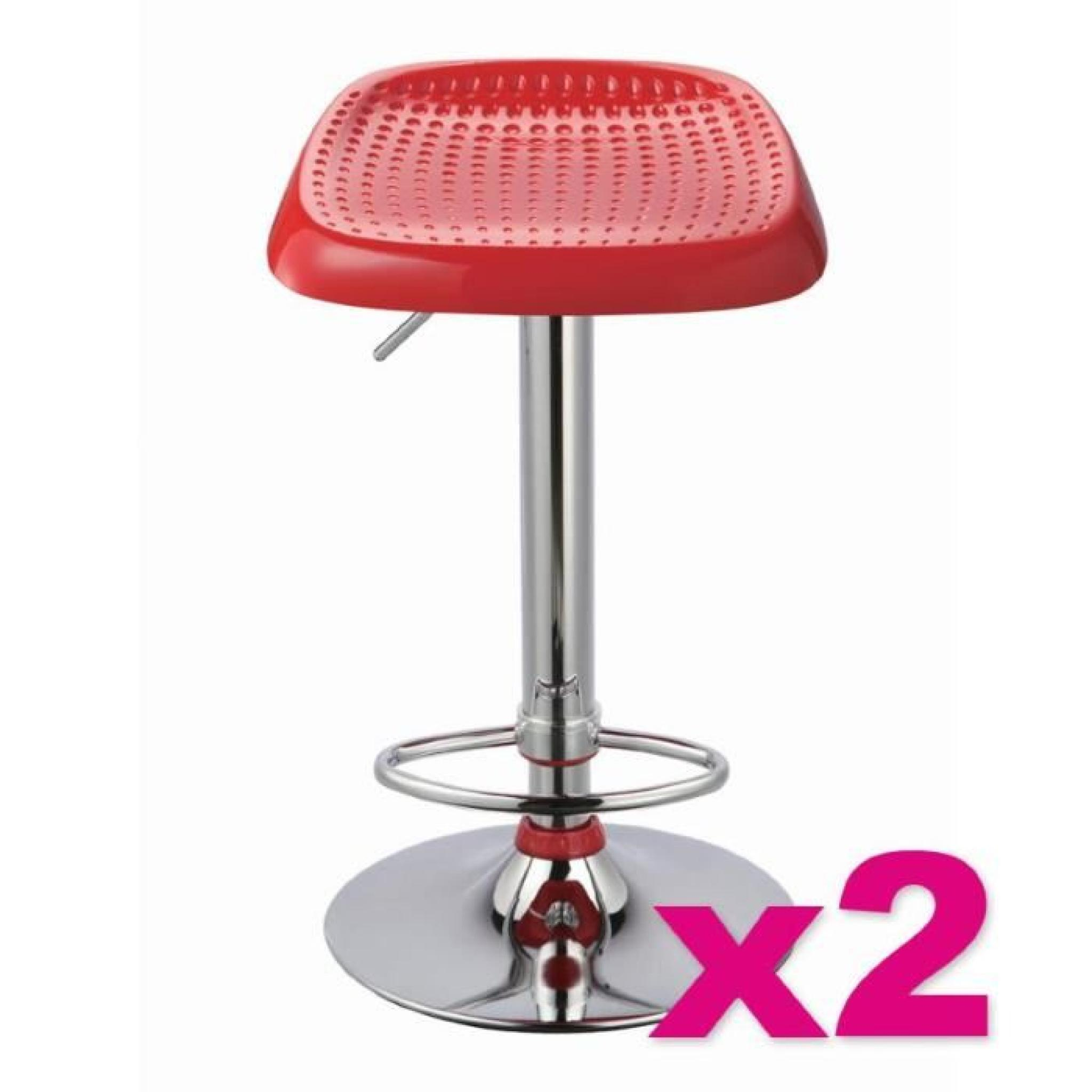 2 Tabourets Rouge Lot De 2 Tabourets De Bar Manhattan Rouge Achat Vente