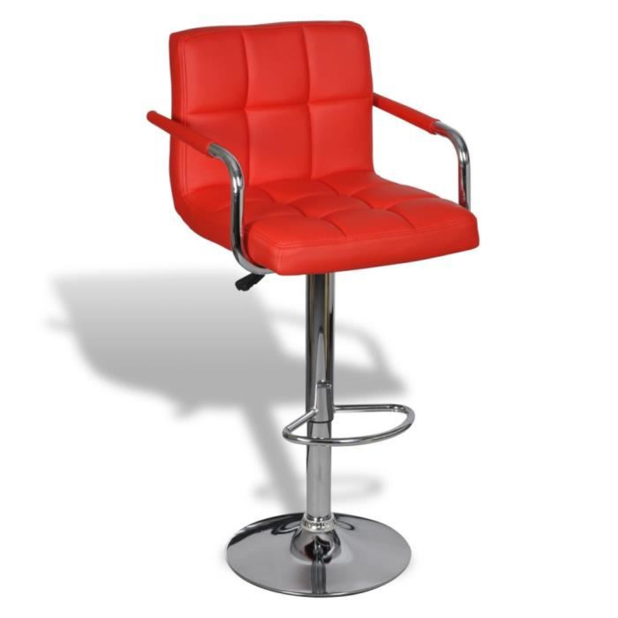 Songmics Lot De 2 Tabourets De Bar Stool Lot De 2 Tabourets De Bar Rouges Avec Accoudoirs Achat