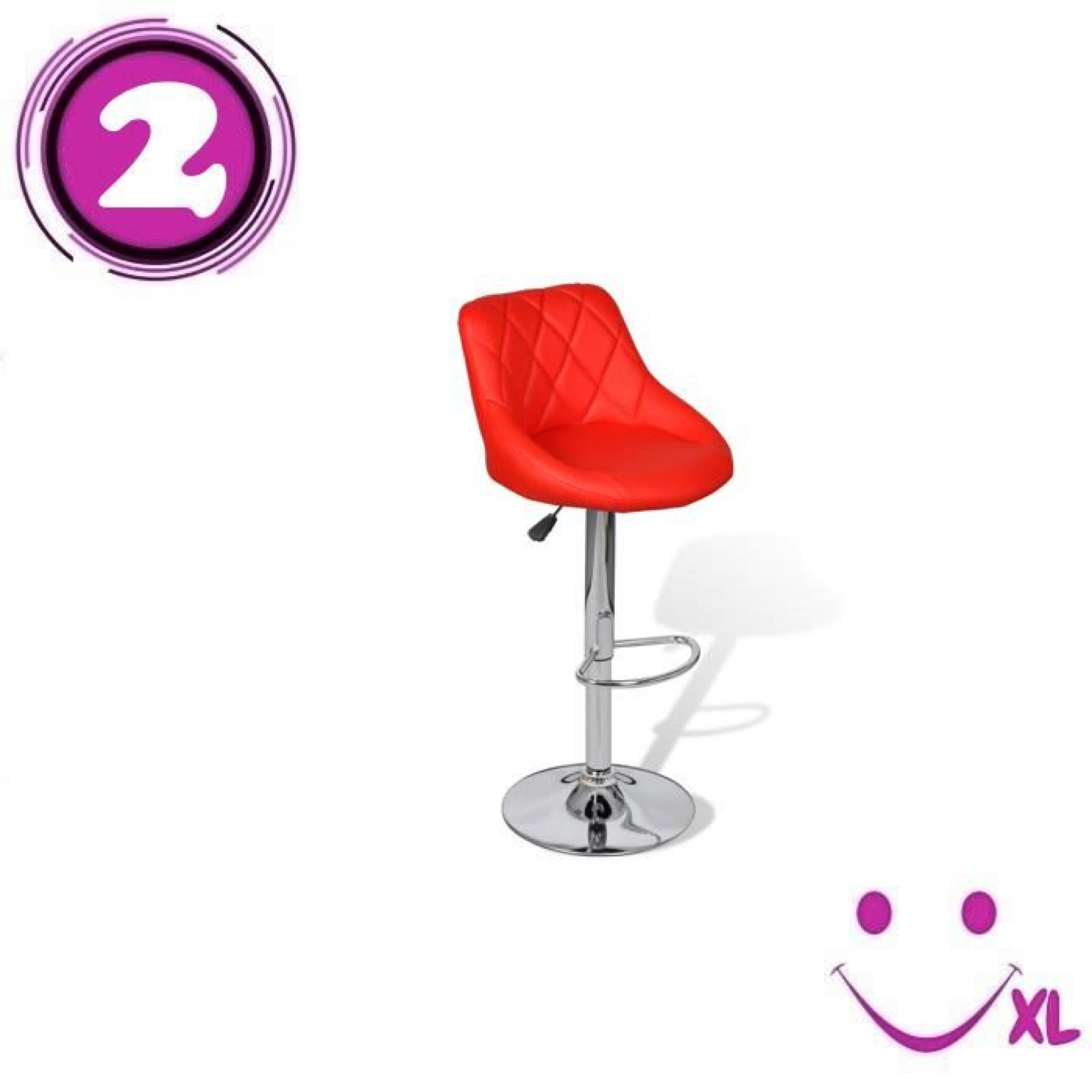 2 Tabourets Rouge Lot De 2 Tabourets De Bar Rouges Design Moderne Achat