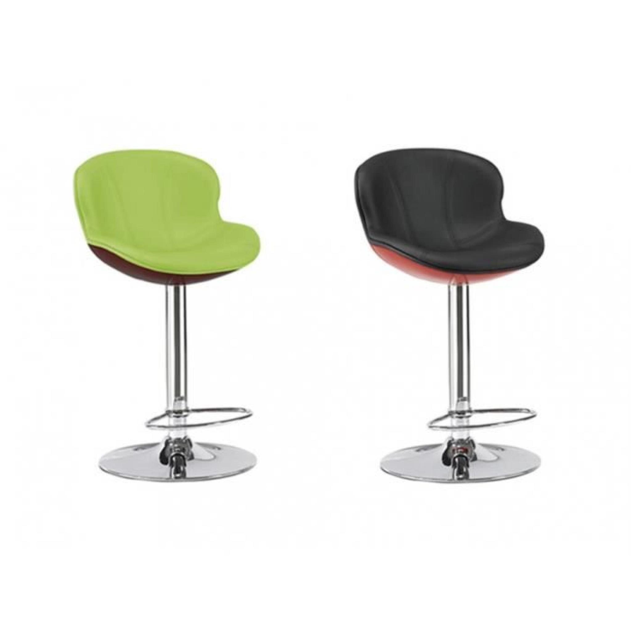 Tabouret De Bar Noir Et Blanc Pas Cher Lot De 2 Tabourets De Bar Smiley Noir Rouge
