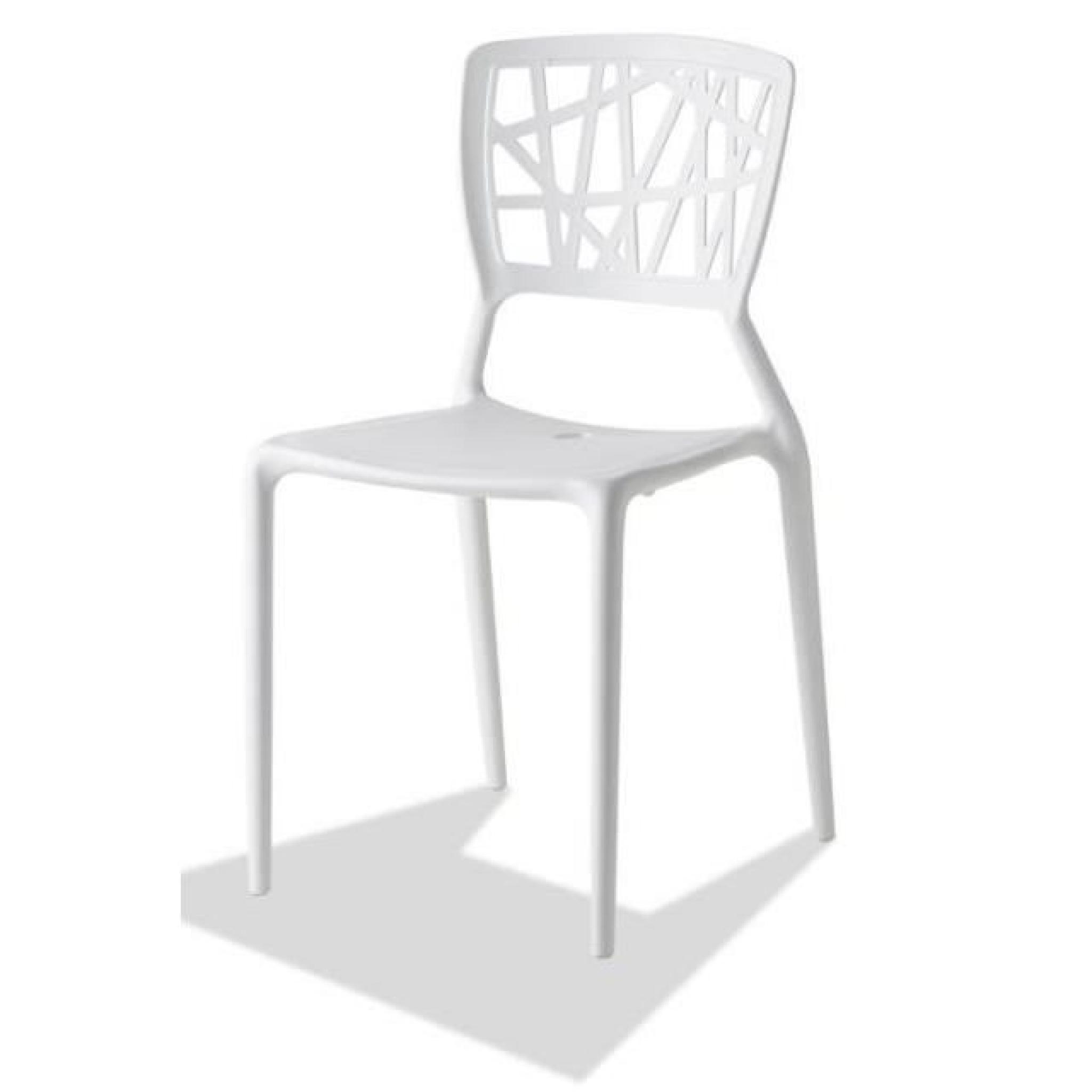 Lot De Chaises Design Lot De 4 Chaises Design Blanches Empilable En Poly