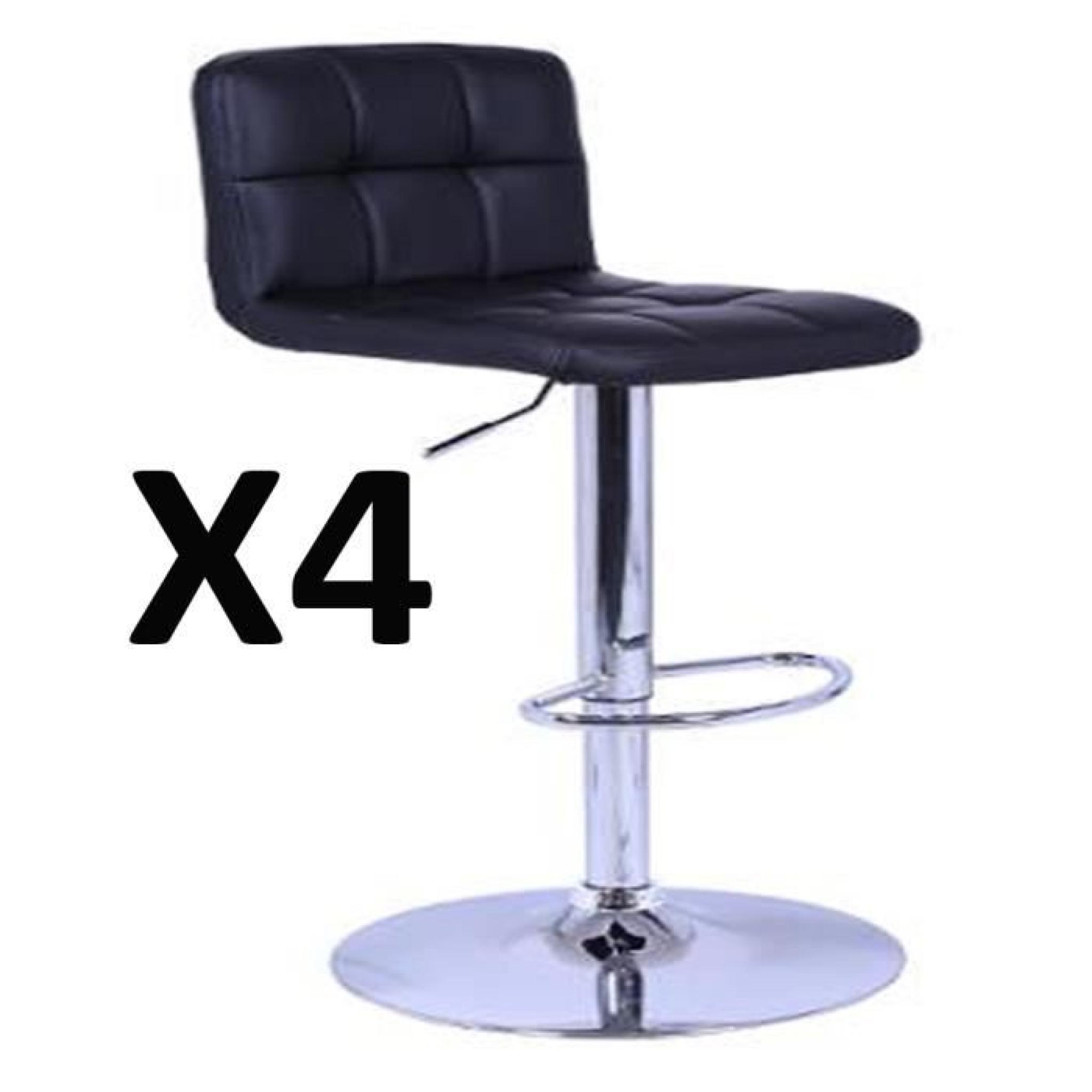 Set De 1 Table Bar Et 4 Tabourets Noir 4 Tabourets De Bar Ikea Chaise De Bar 221328 Lot De 4
