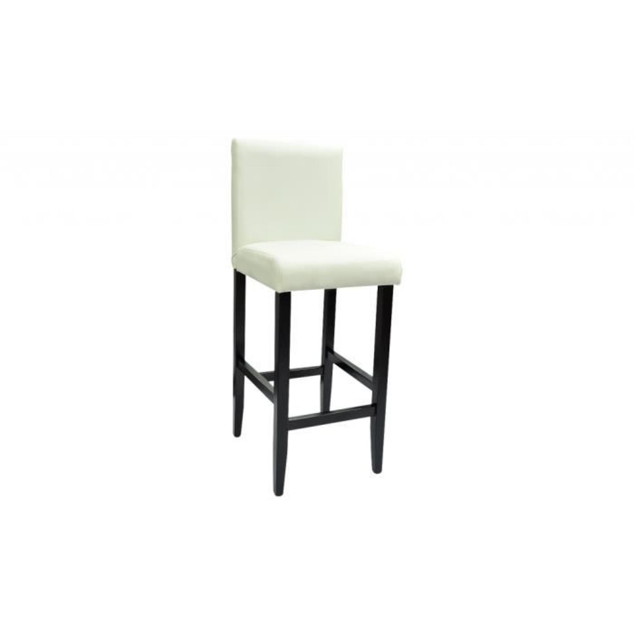 6 Tabourets De Bar Lot De 6 Tabourets De Bar Chicago Blanc Achat Vente