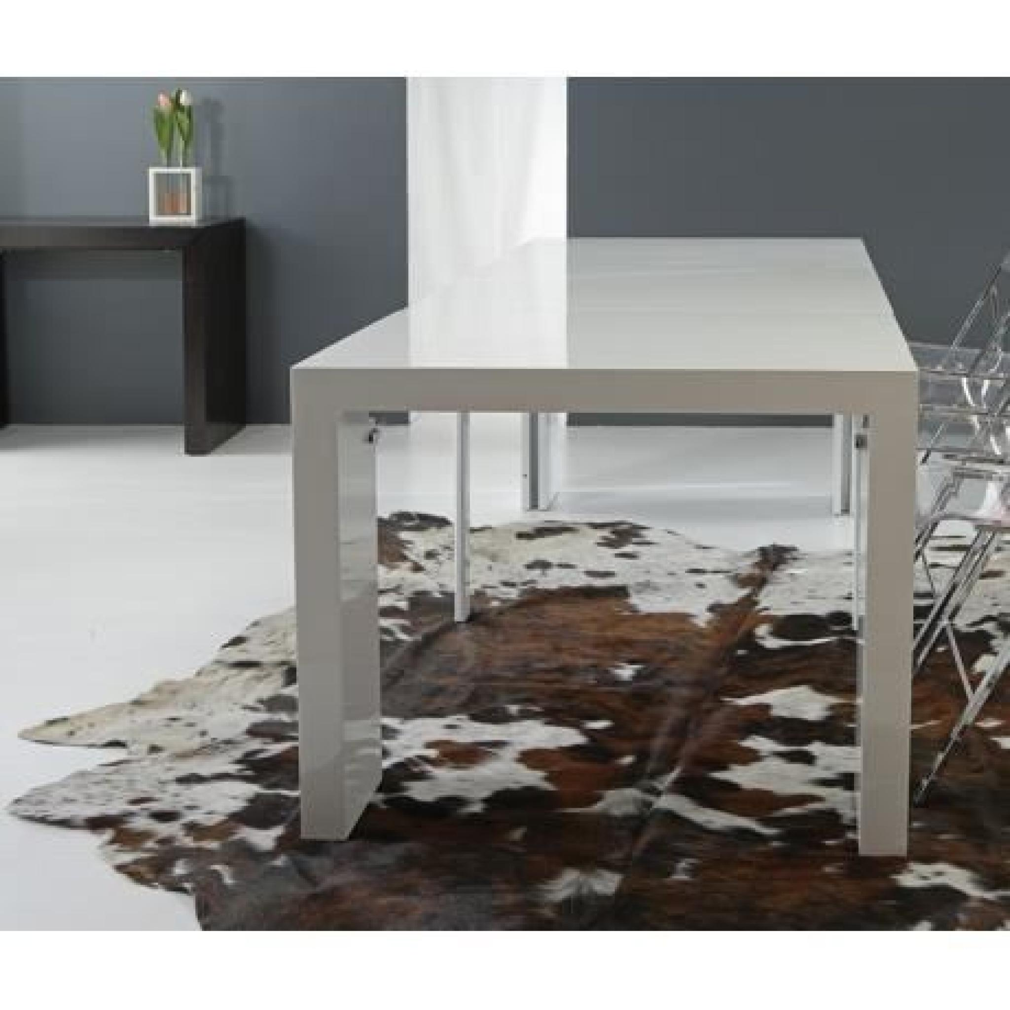 Table à Manger Blanche Magik Console Table Extensible Blanche 4 Allonges
