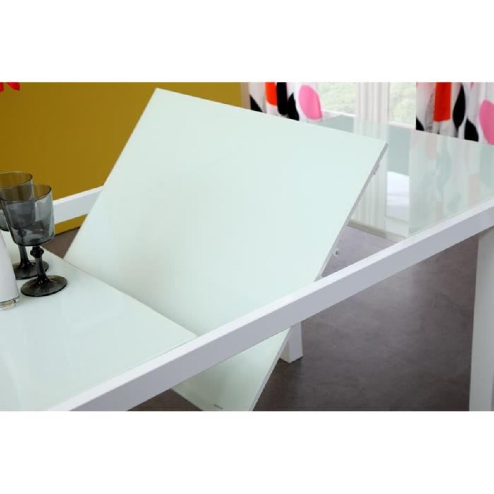 Table Verre Extensible Roma Table Extensible 120 180cm Verre Blanc