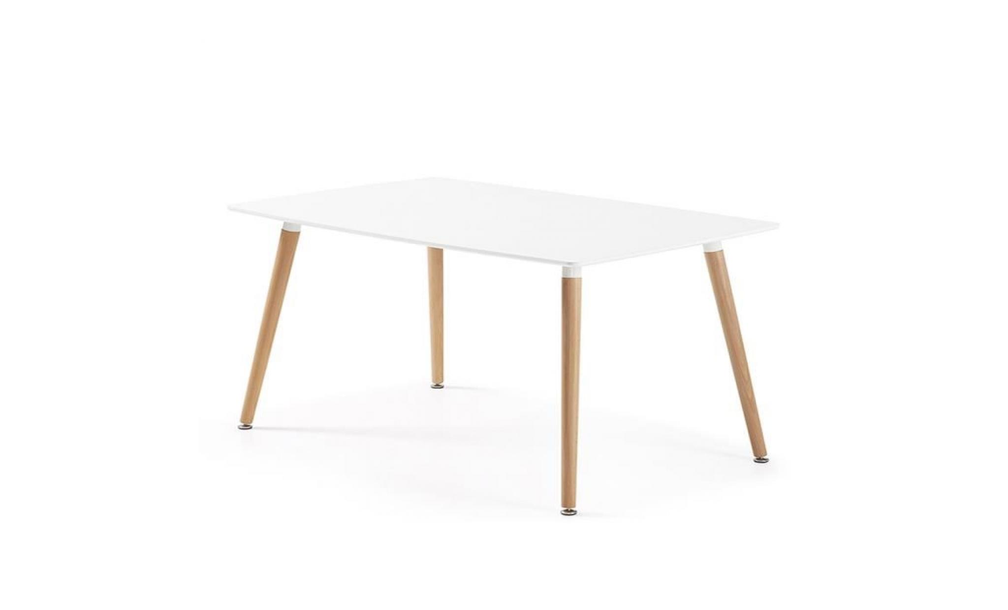 Table Blanche Rectangulaire Table A Manger Blanche Maison Design Wiblia