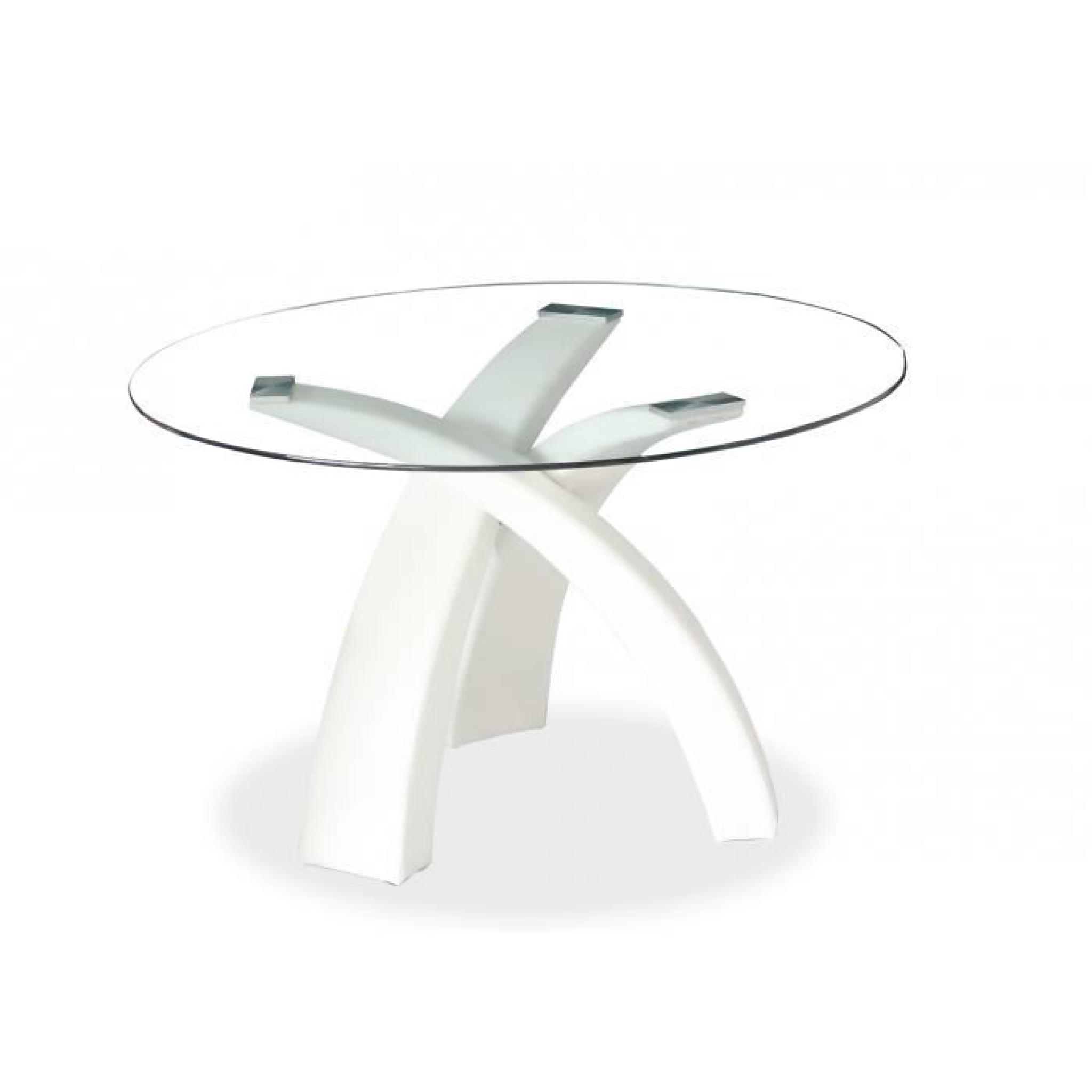Table A Manger En Verre Occasion Table à Manger Ronde Blanche Gore Achat Vente Table