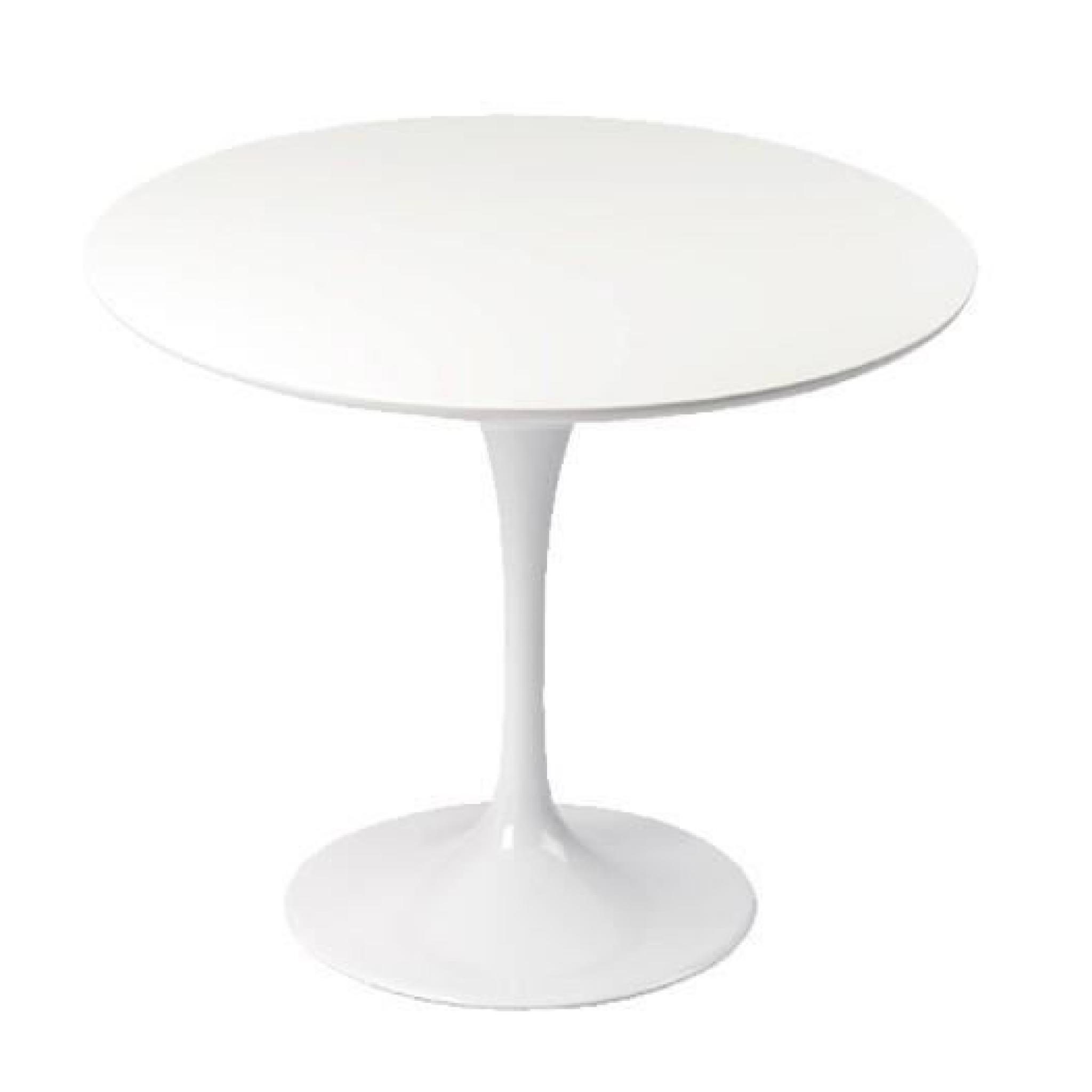 Table Tulipe Blanche Table Design Ronde 90cm Blanche Tulipe Achat Vente