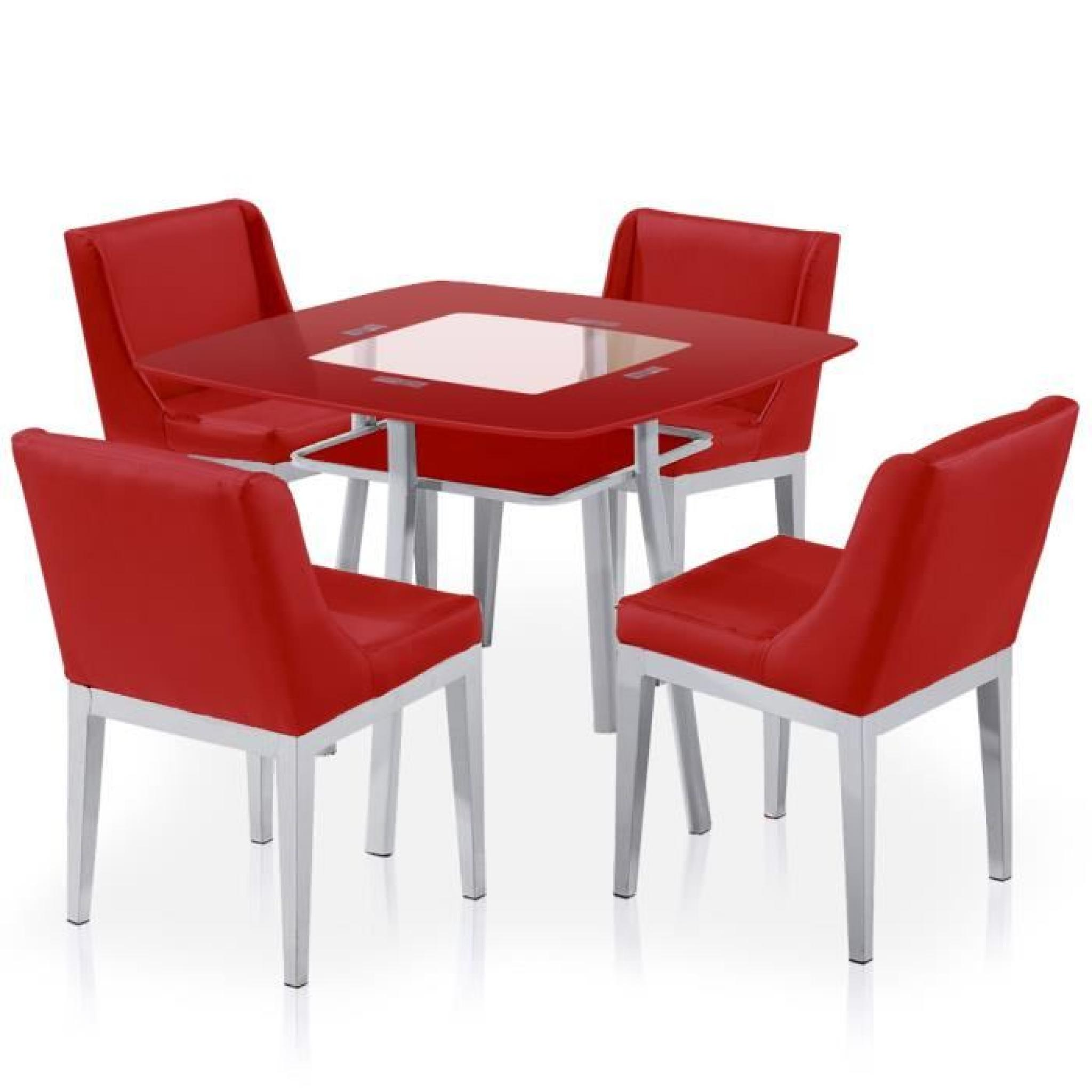 Achat Table Et Chaises Table Et Chaises Carrie Rouge Achat Vente Table Salle A