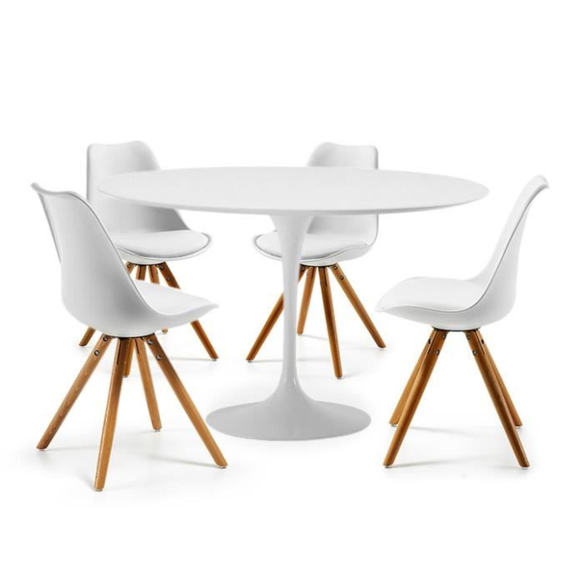 Table Tulipe Blanche Interesting Table Tulipe Cm Et Chaises Clubber Blanches