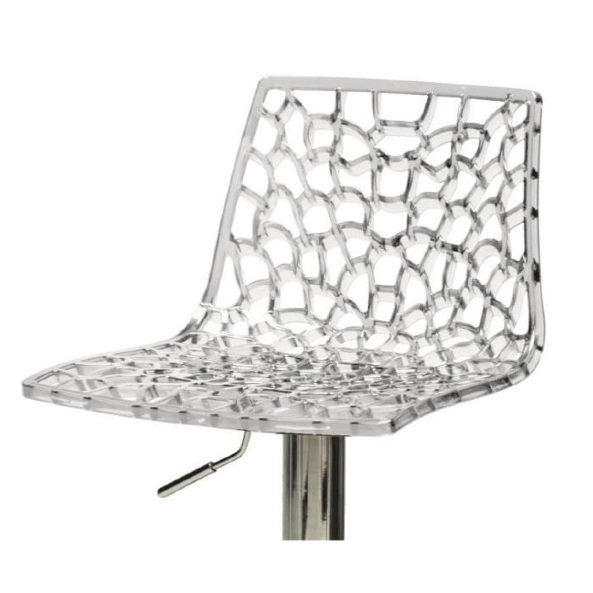 Tabourets Plastique Transparent Assise Tabouret De Bar Transparent