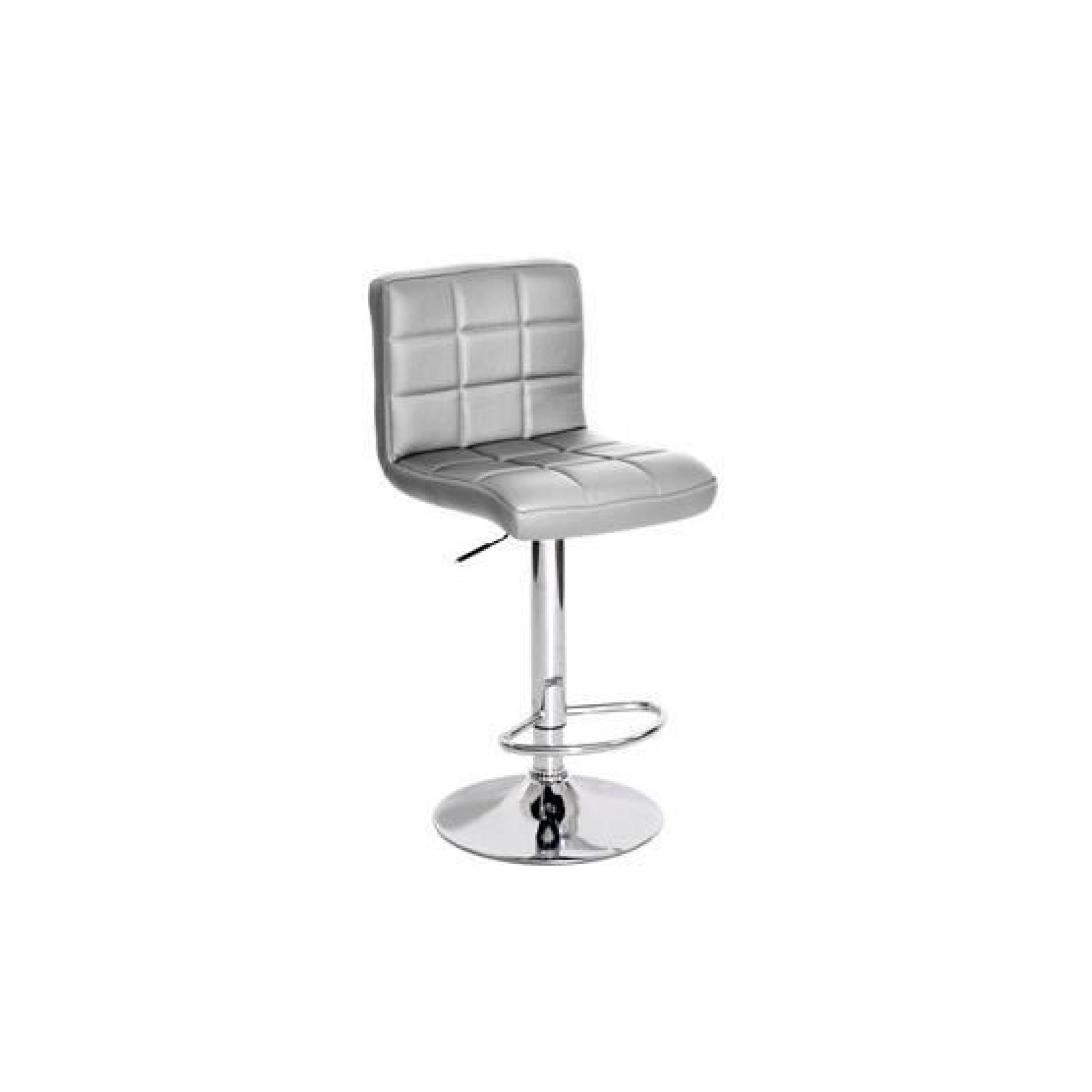 Songmics Lot De 2 Tabourets De Bar Stool Tabouret De Bar Gris Argent