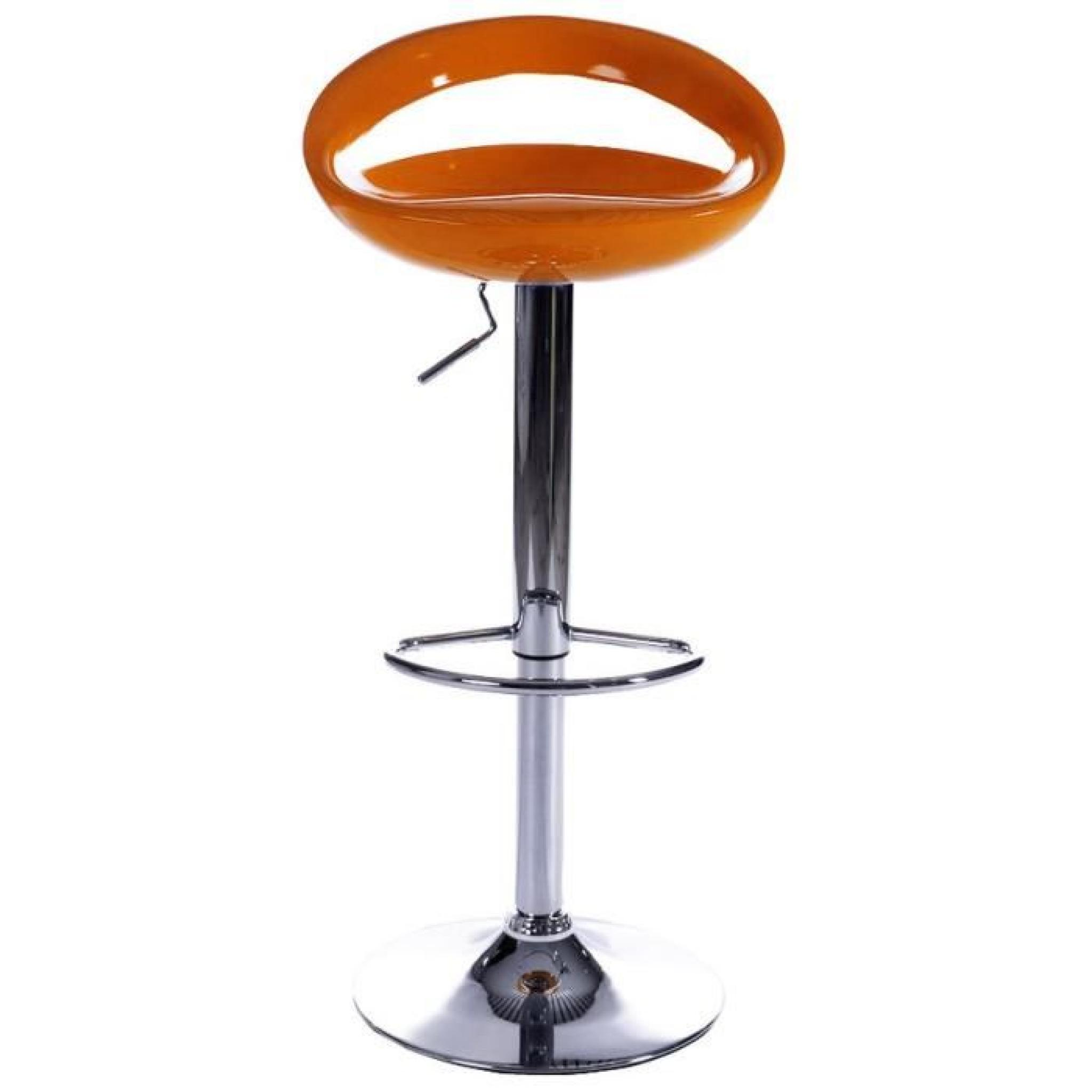 Tabouret Bar Moderne Tabourets De Bar Moderne Orange Comet Lot De 2 Achat