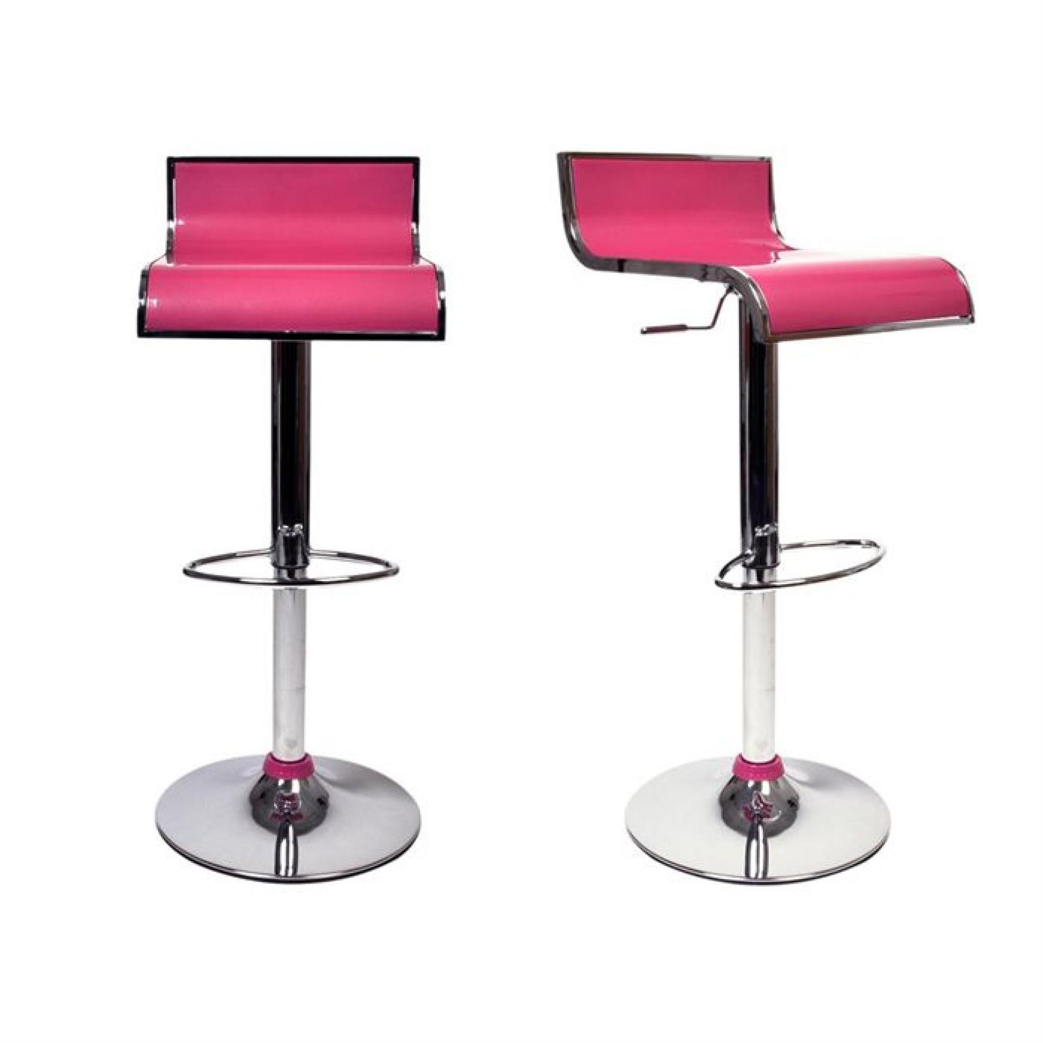 Tabourets De Bar Rose Tabourets De Bar Rose Design Waves Lot De 2 Achat