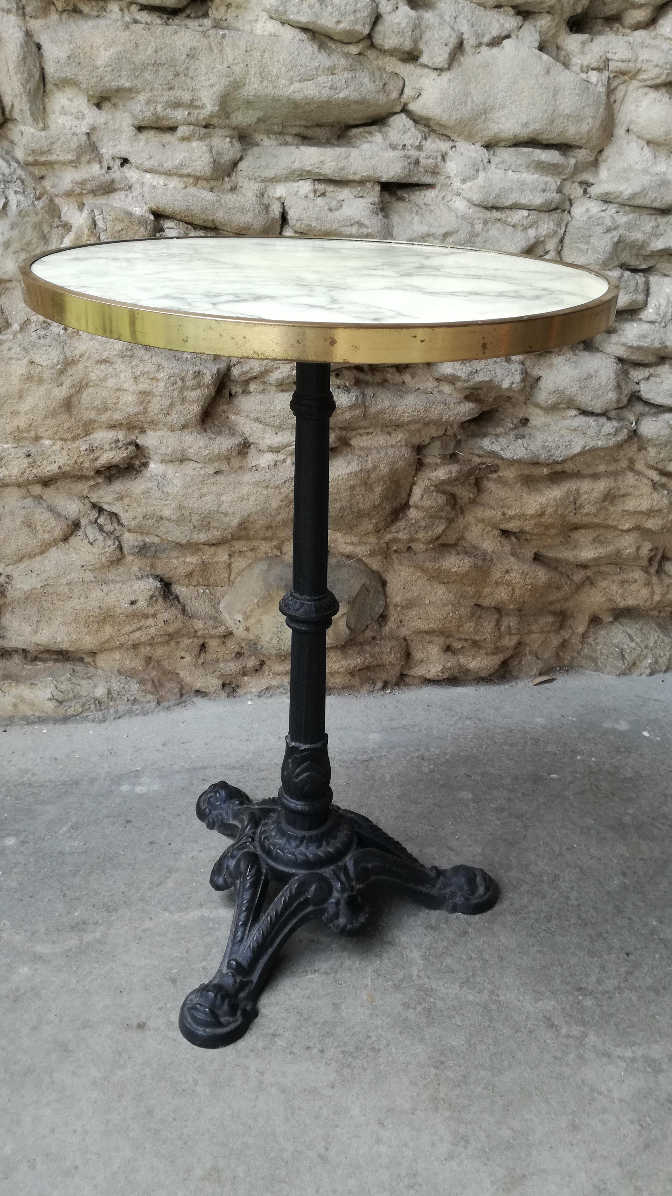 Table Bistrot Pied Fonte Table Bistrot Couleur Brocante