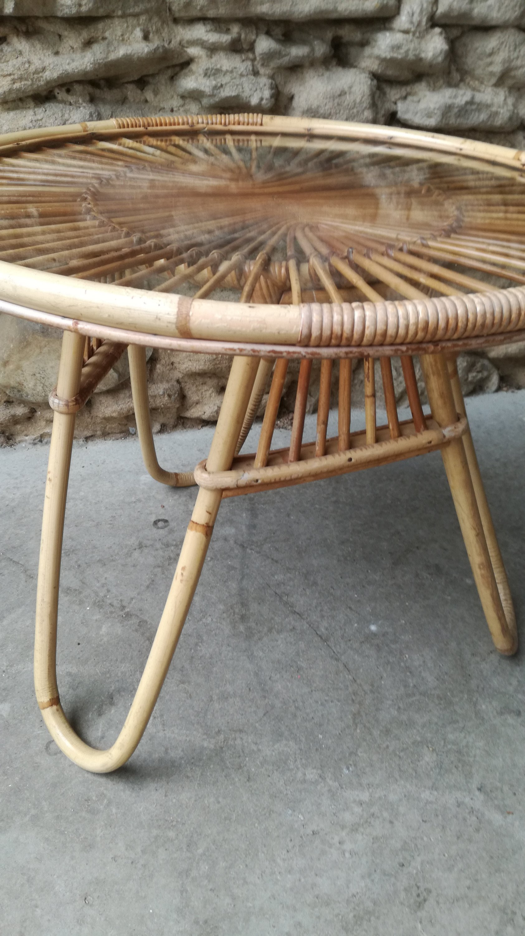 Table Rotin Table Rotin Couleur Brocante