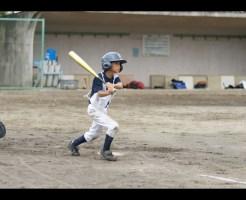 少年野球バッティング