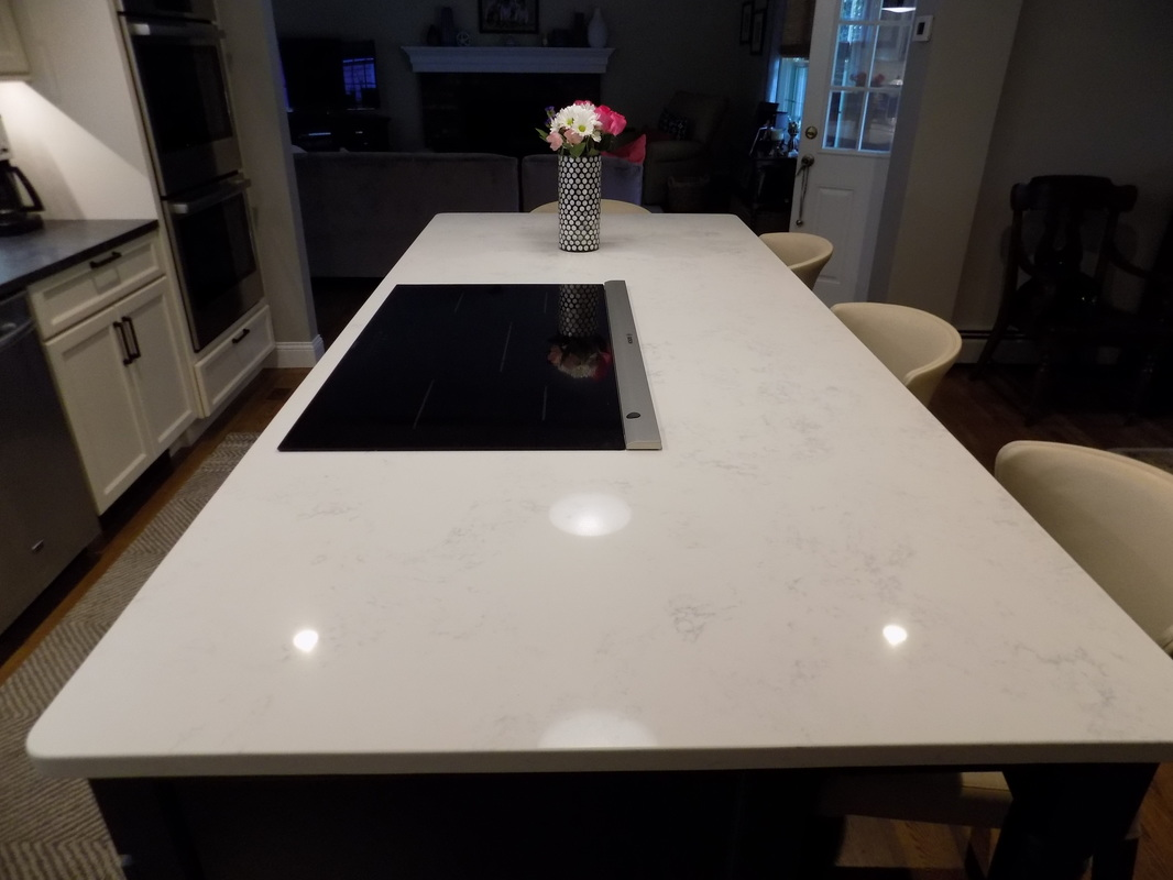 Honed Quartz Countertops Jet Mist And Q Quartz Countertops By Superior Granite