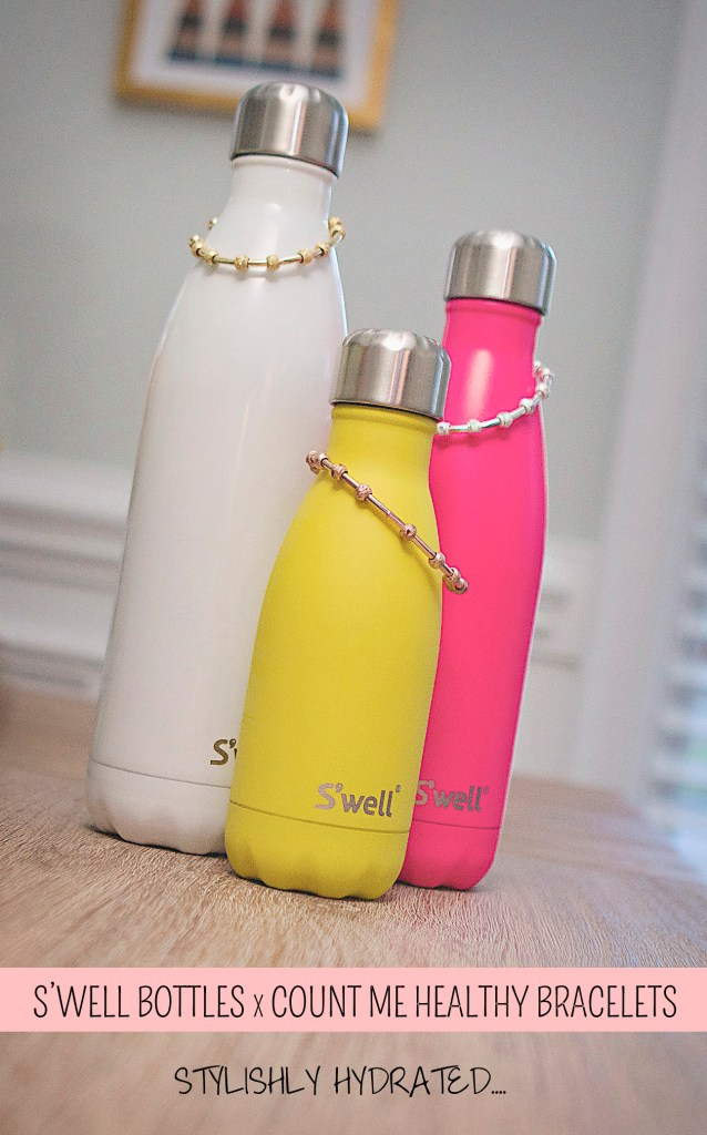 Swell Bottles and Count Me Healthy Journal Bracelets