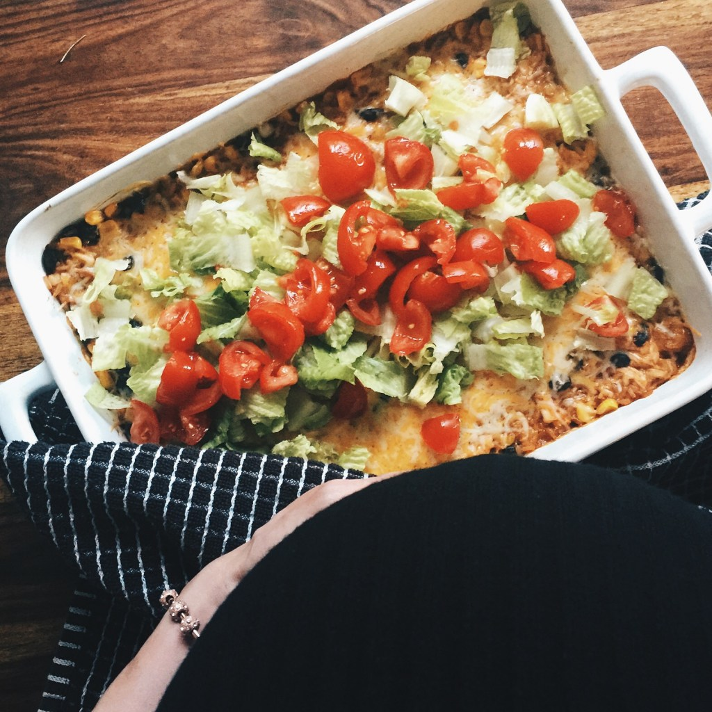 Chelsea Charles' Light Mexican Chicken Bake Recipe via Count Me Healthy