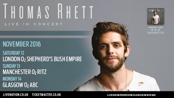 Thomas Rhett en concert en Europe