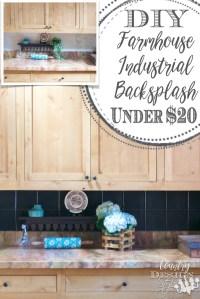 DIY Farmhouse Industrial Backsplash - Country Design Style