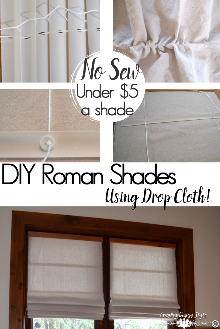 Diy Roman Shades Easy Roman Shade Tutorial Country Design Style